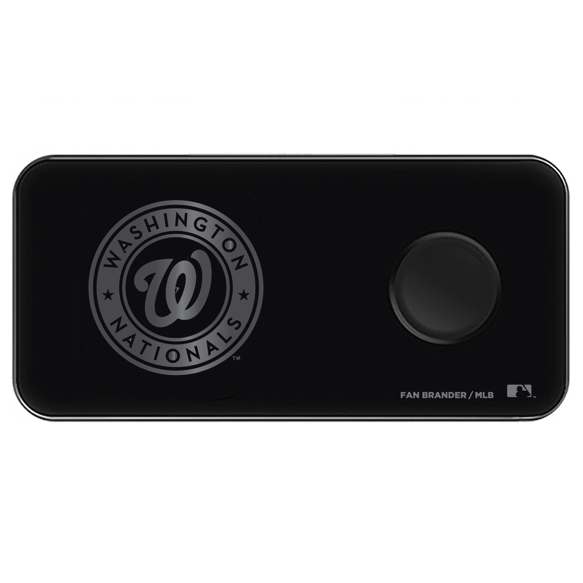Washington Nationals 3-in-1 Glass Wireless Charge Pad - Black