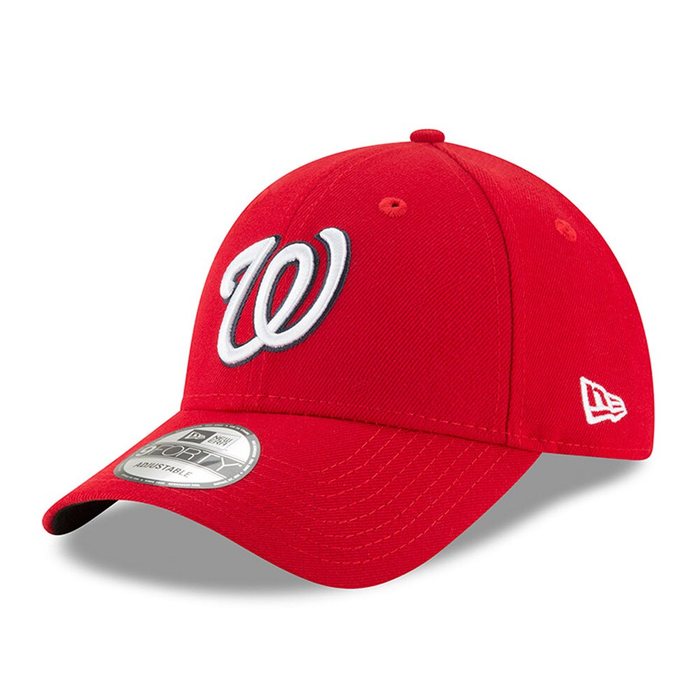 Washington Nationals New Era Men's League 9Forty Adjustable Hat - Red