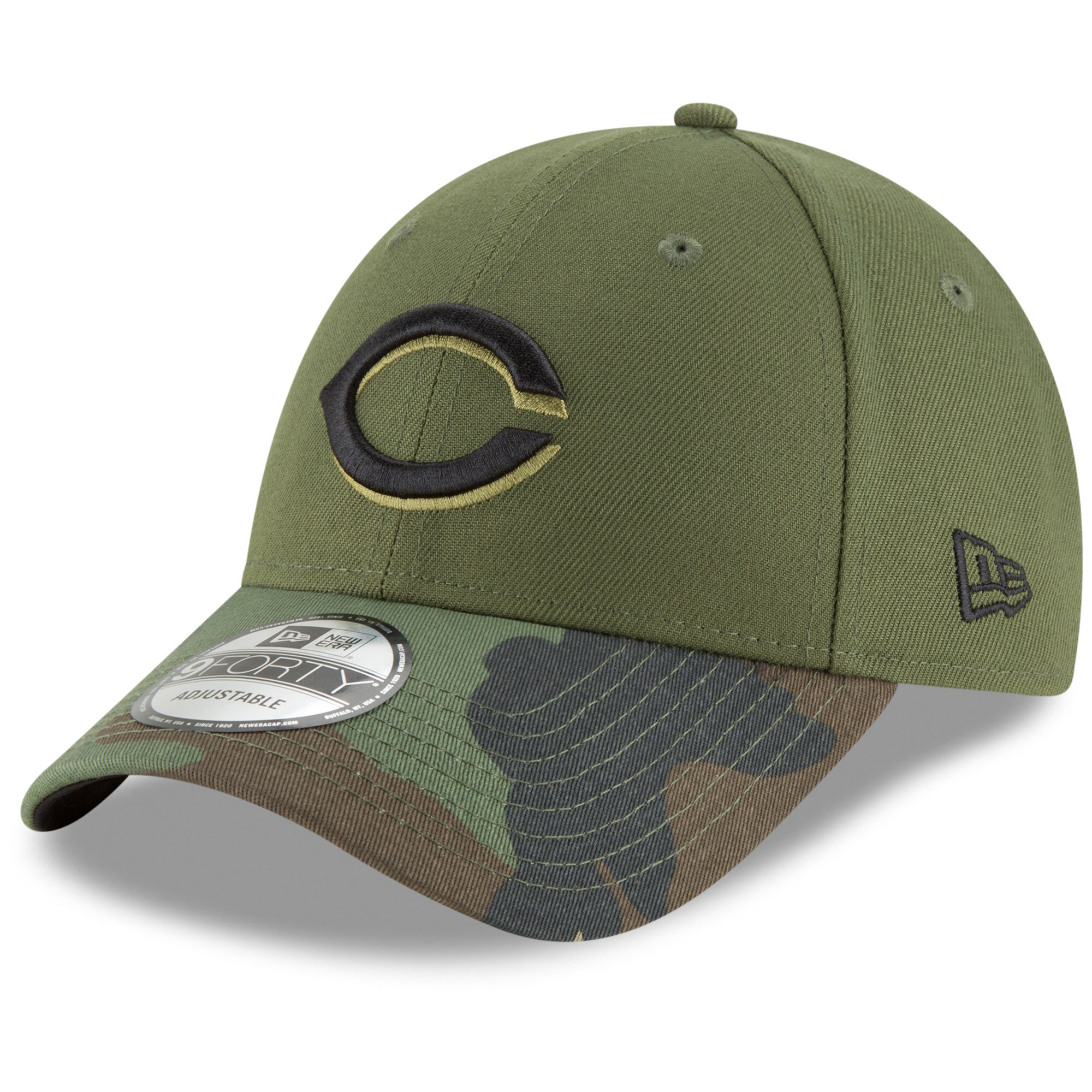 Cincinnati Reds New Era Alternate 2 The League 9FORTY Adjustable Hat - Olive