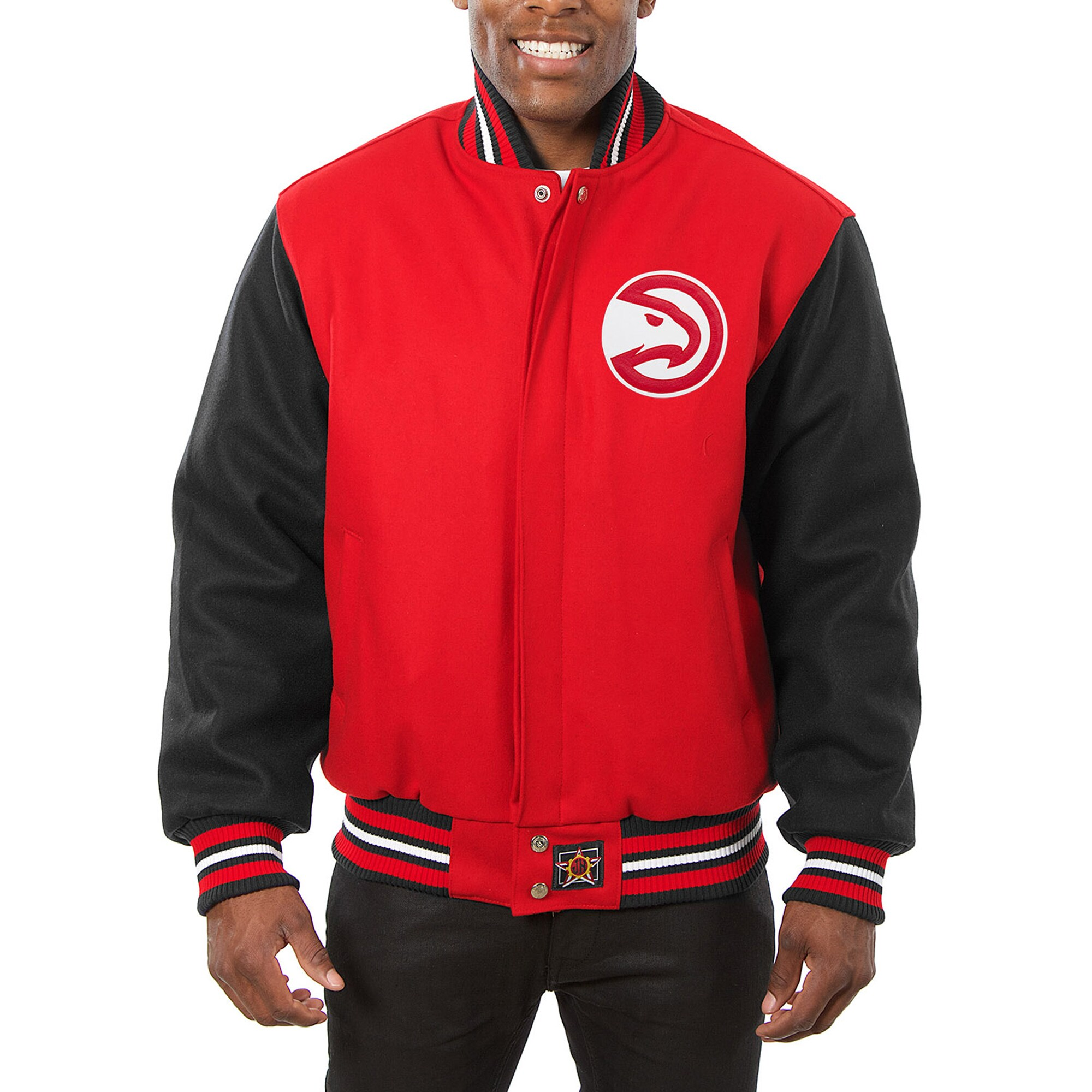 Atlanta Hawks JH Design Domestic Two-Tone Wool Jacket - Red