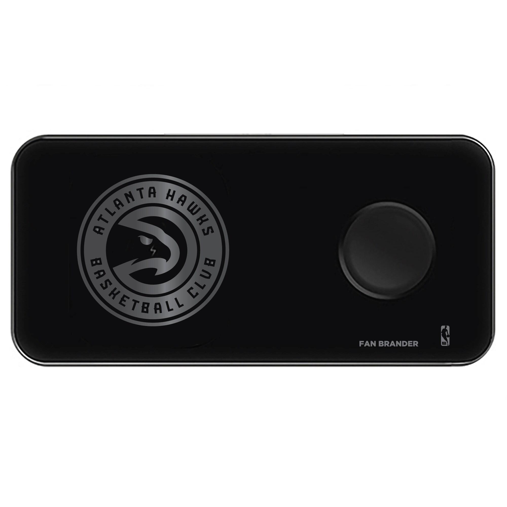 Atlanta Hawks 3-in-1 Glass Wireless Charge Pad - Black