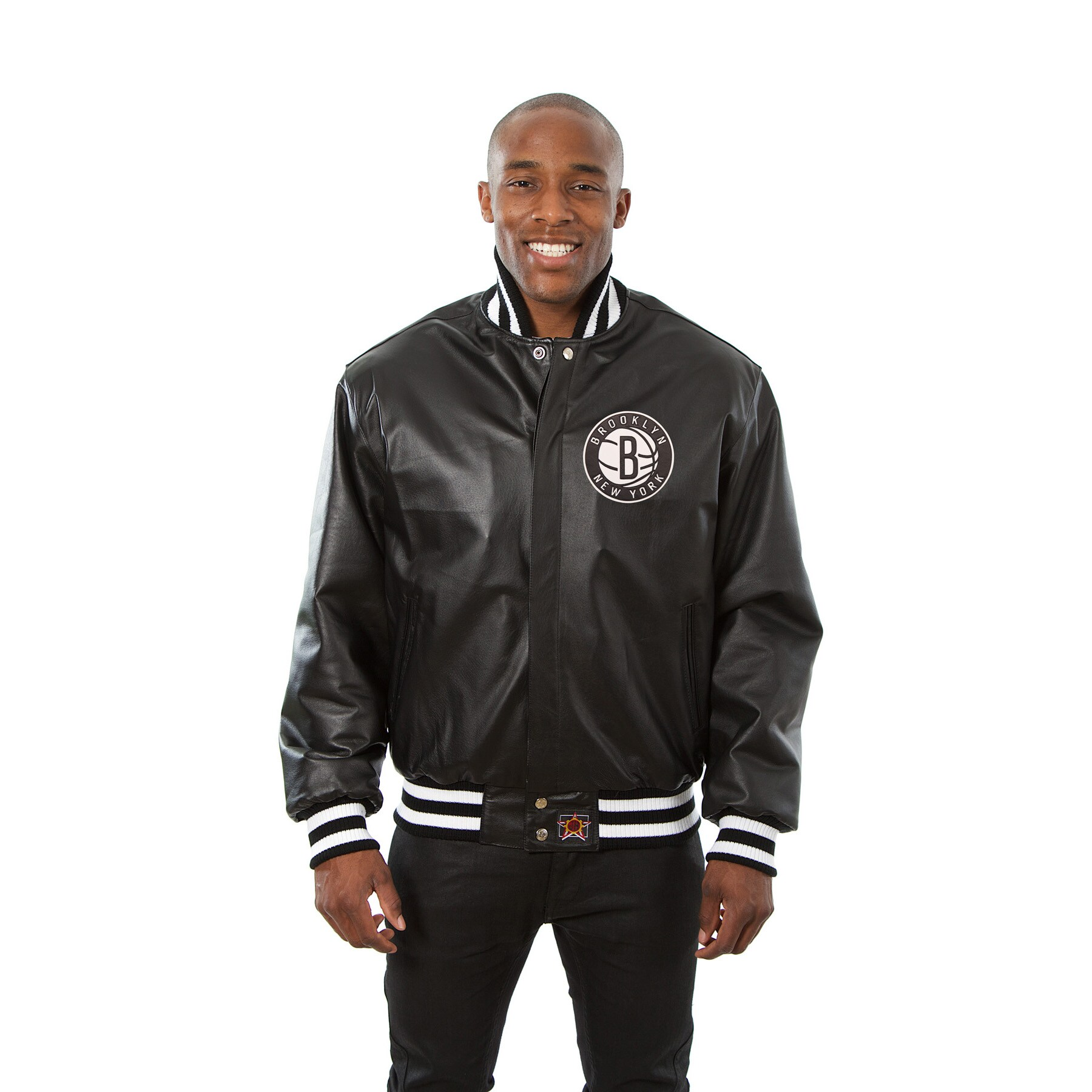 Brooklyn Nets JH Design Domestic Team Color Leather Jacket - Black