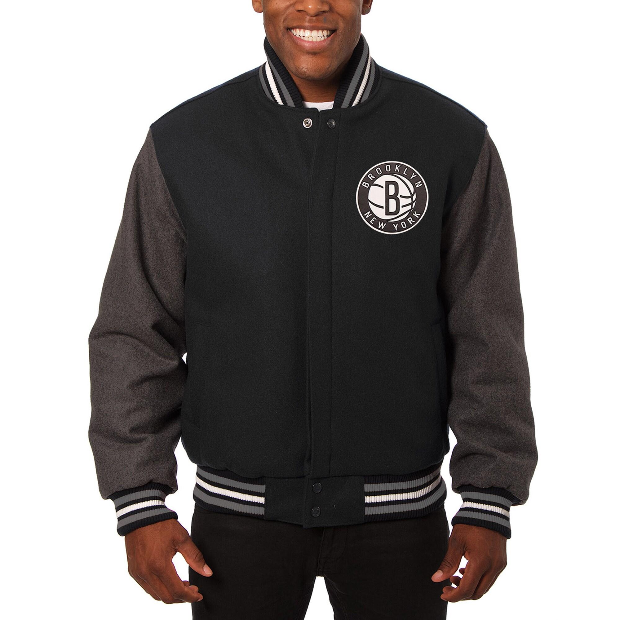 Brooklyn Nets JH Design Domestic Two-Tone Wool Jacket - Black