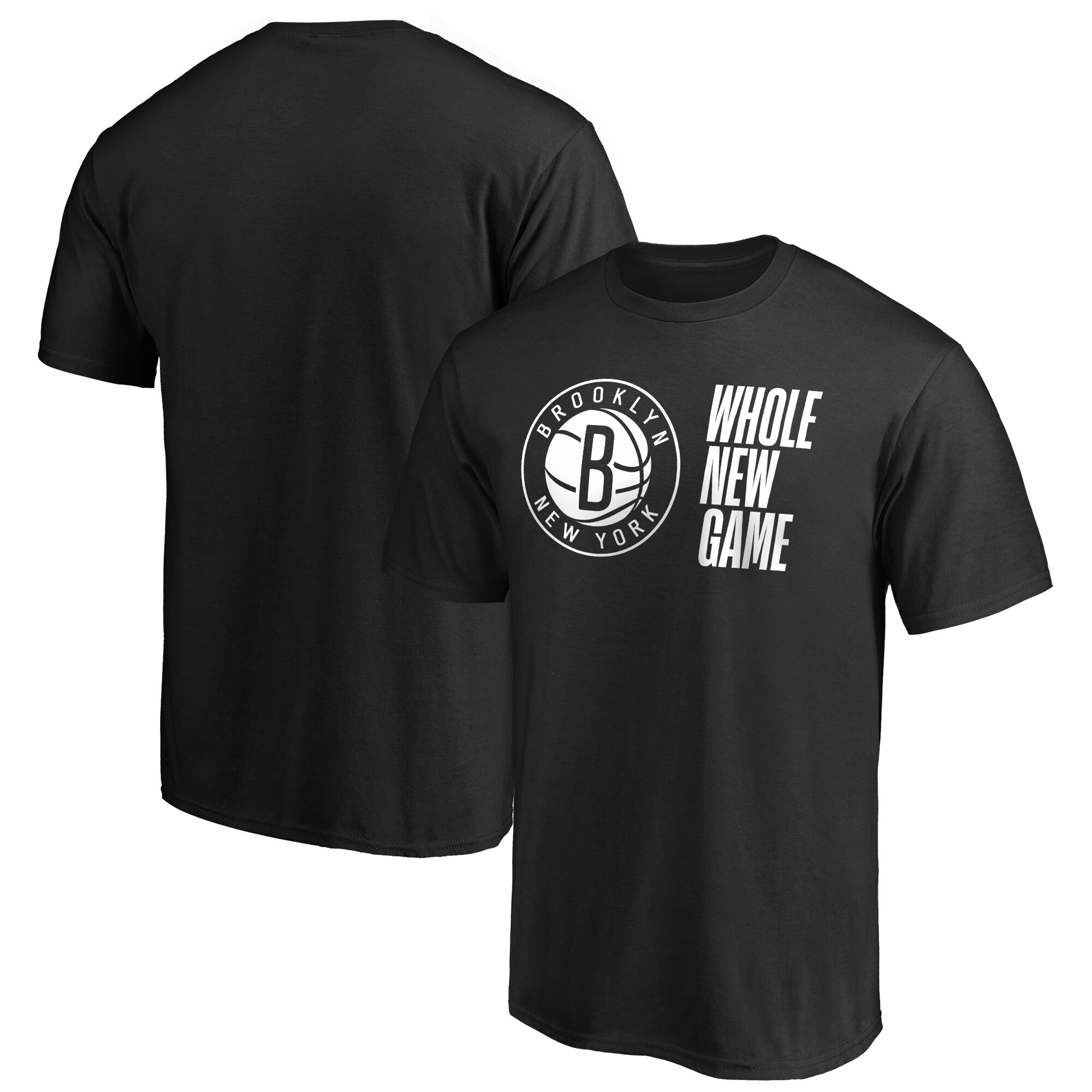 Brooklyn Nets Fanatics Branded Whole New Game Team T-Shirt - Black
