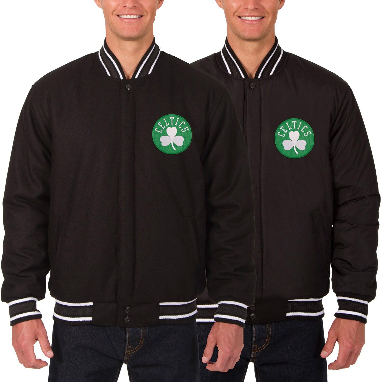 Boston Celtics JH Design Reversible Wool Logo Jacket - Black