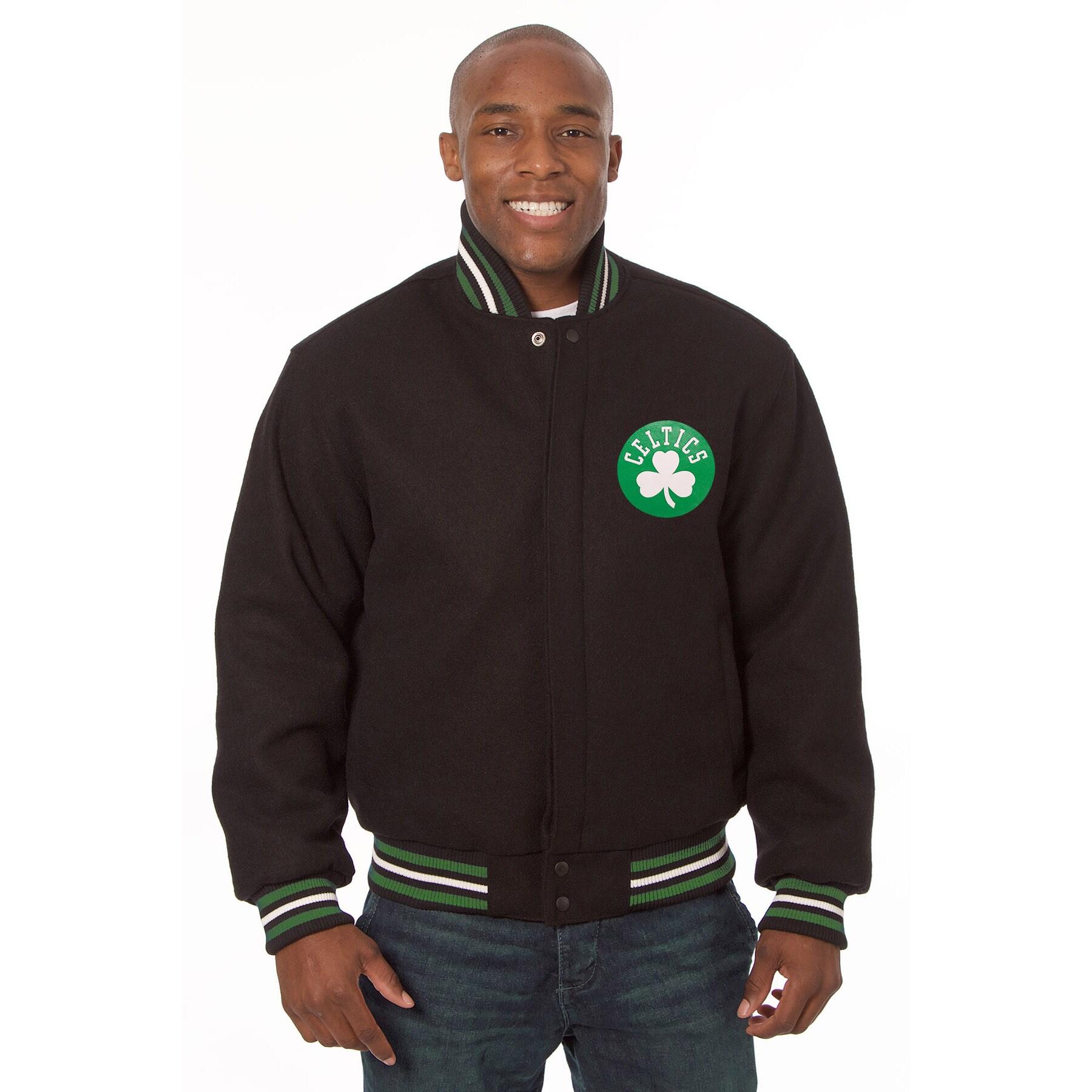 Boston Celtics JH Design Domestic Team Color Wool Jacket - Black
