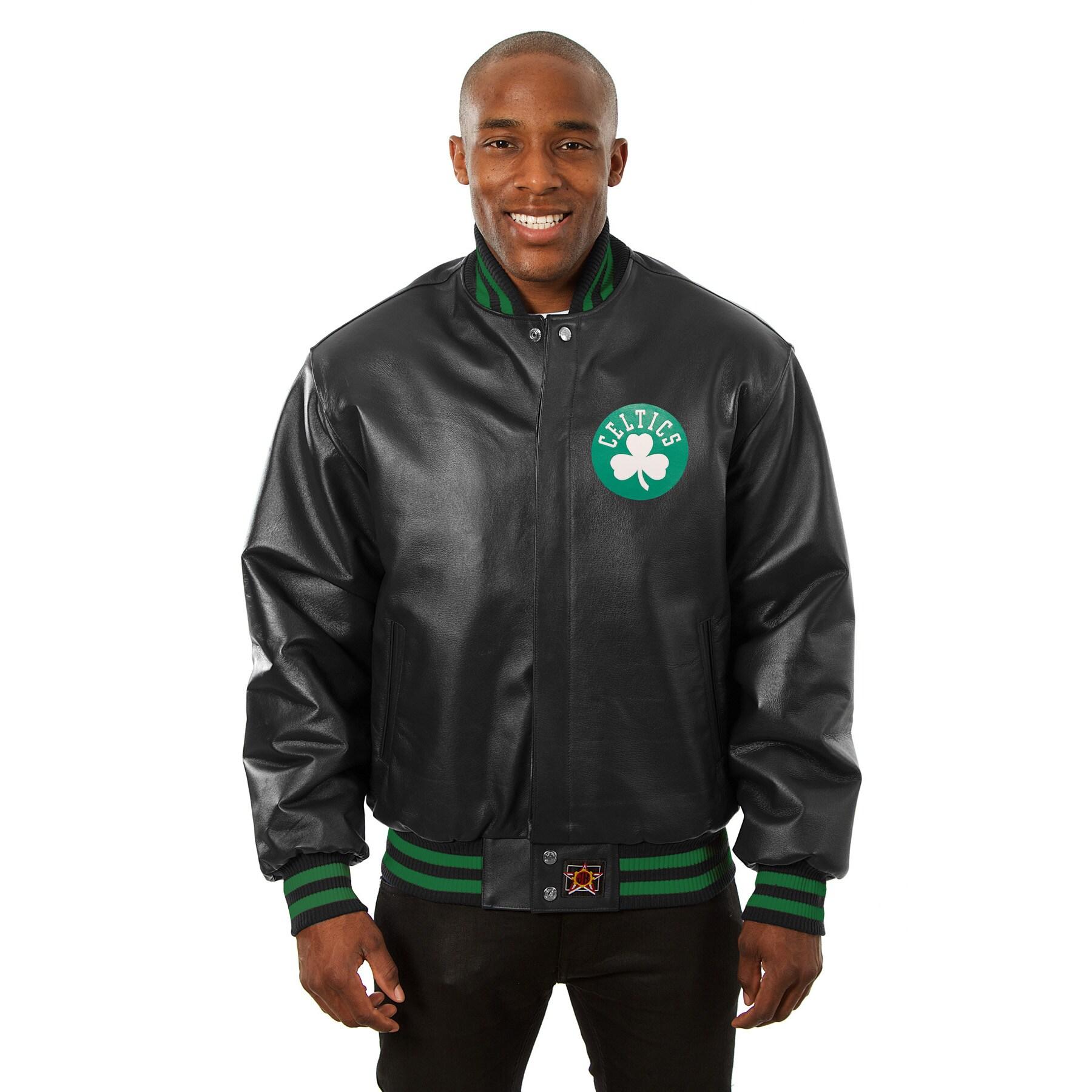 Boston Celtics JH Design Domestic Team Color Leather Jacket - Black