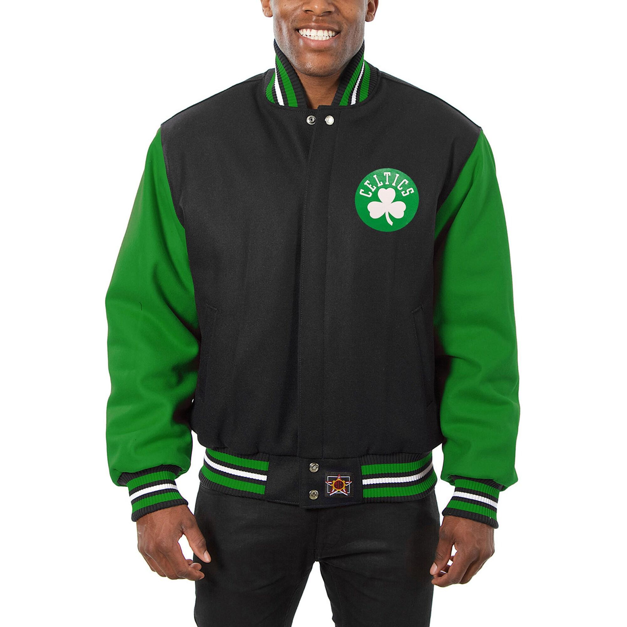 Boston Celtics JH Design Domestic Two-Tone Wool Jacket - Black