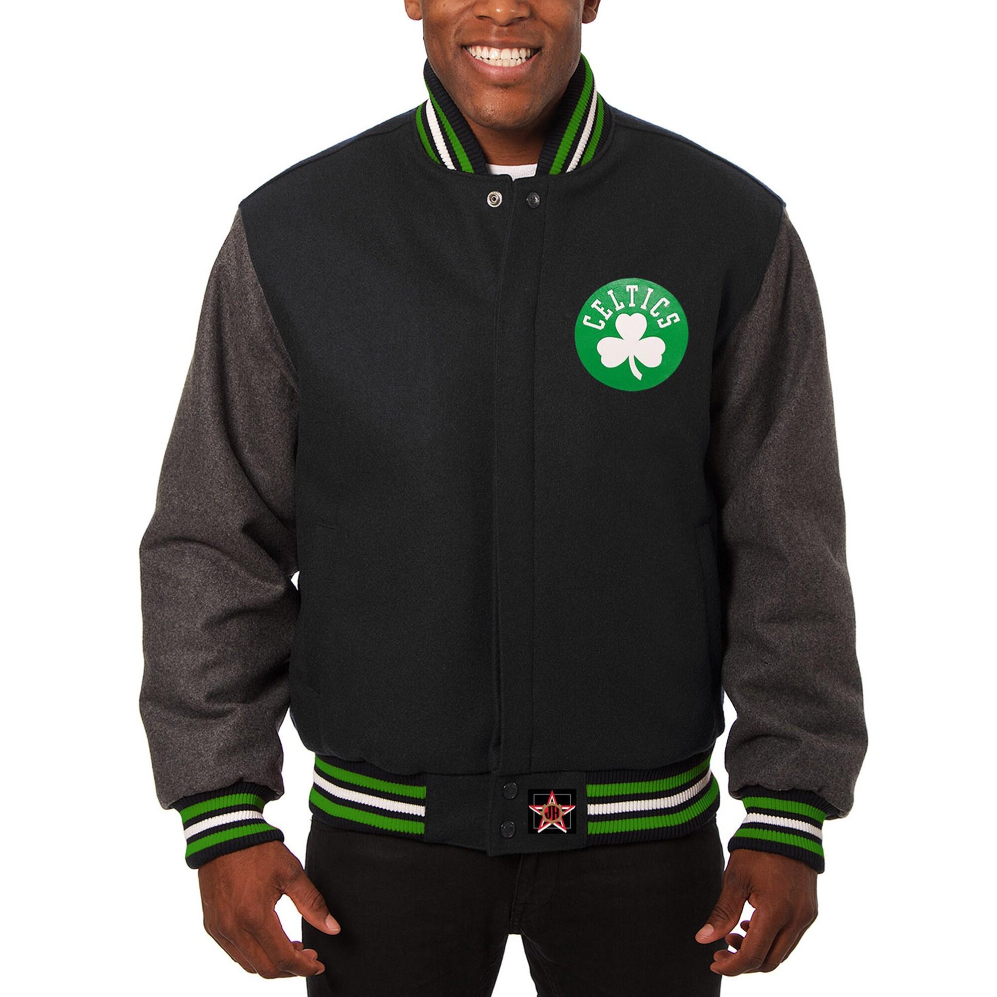 Boston Celtics JH Design Domestic Two-Tone Wool Jacket - Black -