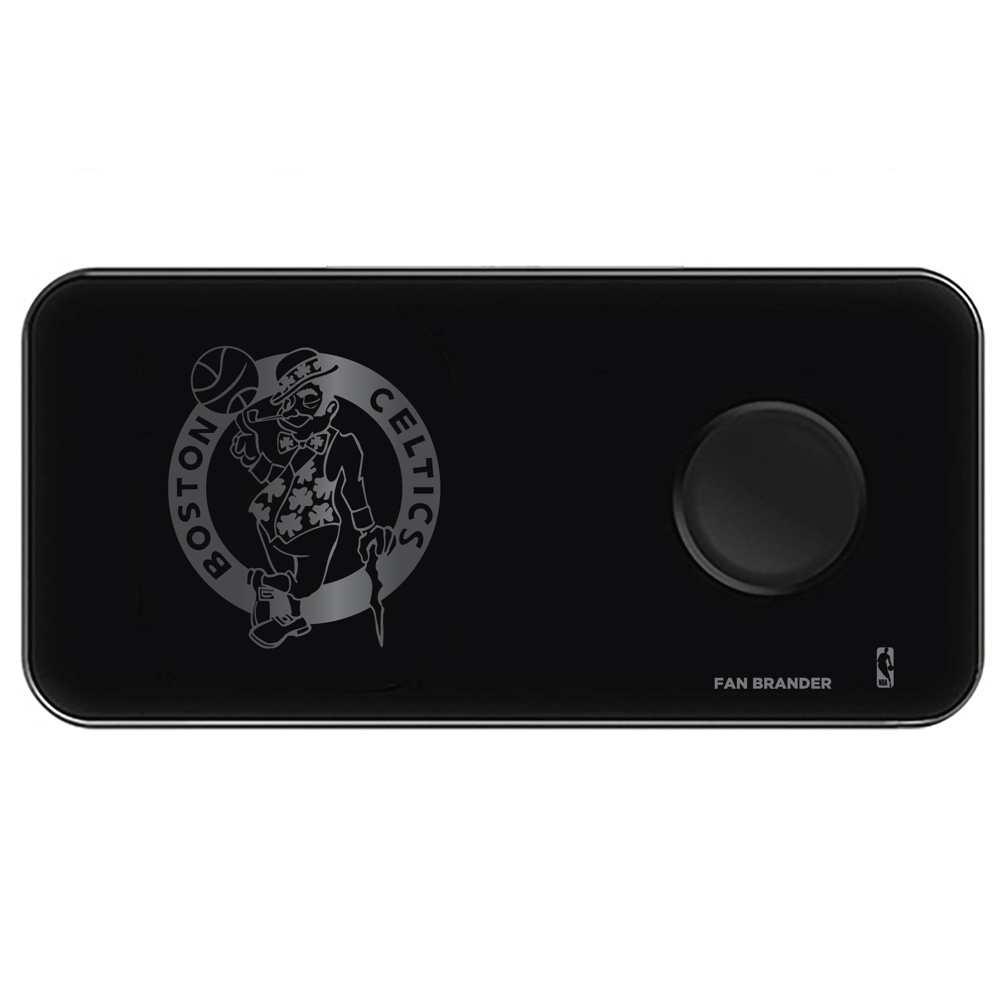 Boston Celtics 3-in-1 Glass Wireless Charge Pad - Black