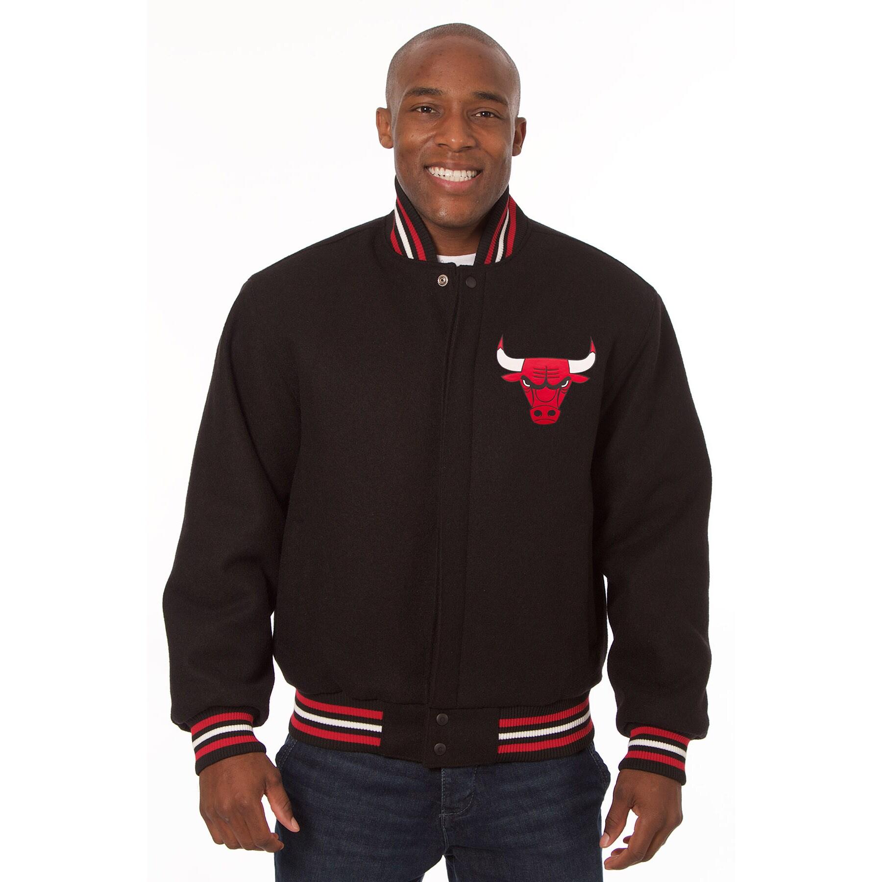 Chicago Bulls JH Design Domestic Team Color Wool Jacket - Black