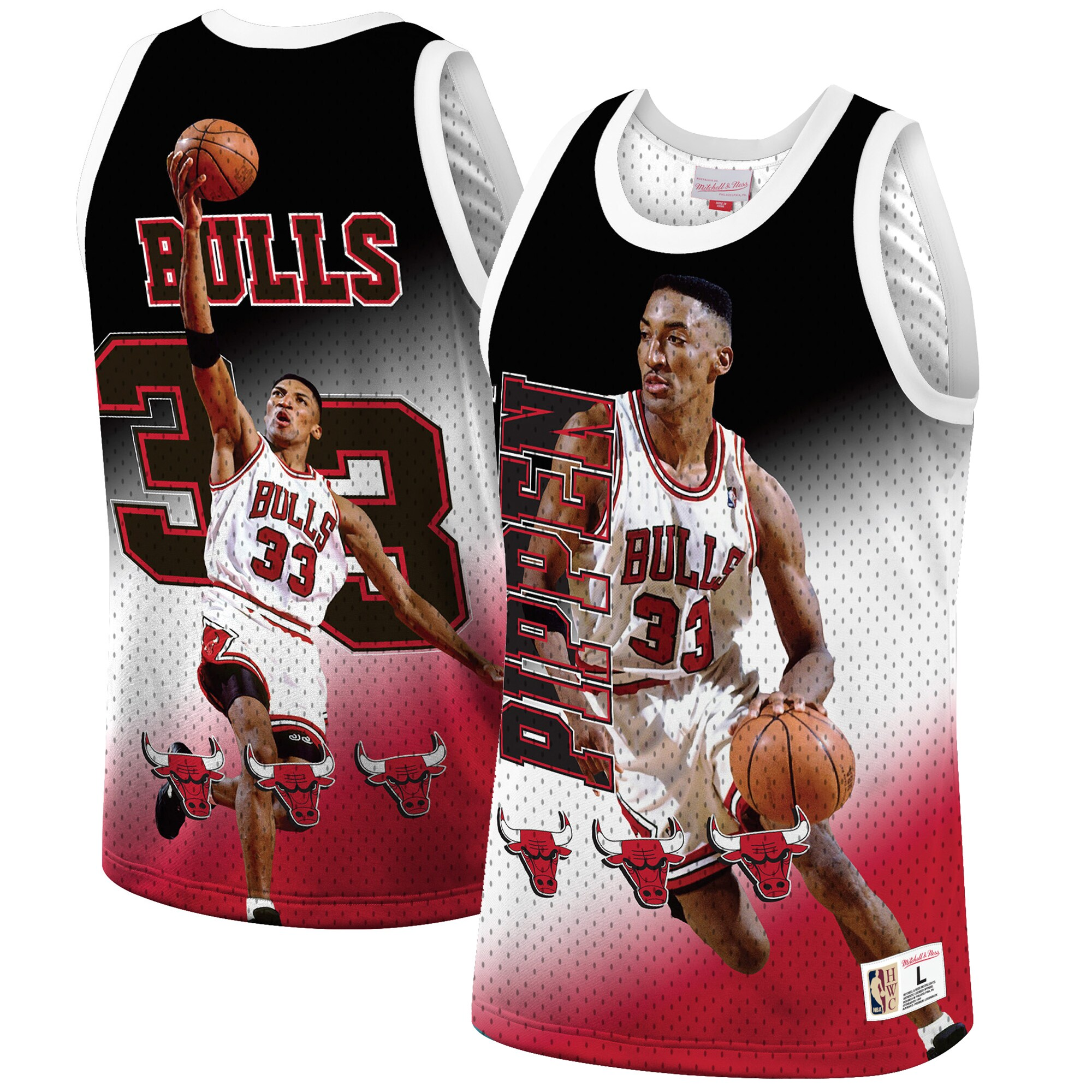Scottie Pippen Chicago Bulls Mitchell & Ness Behind the Back Tank Top - Red