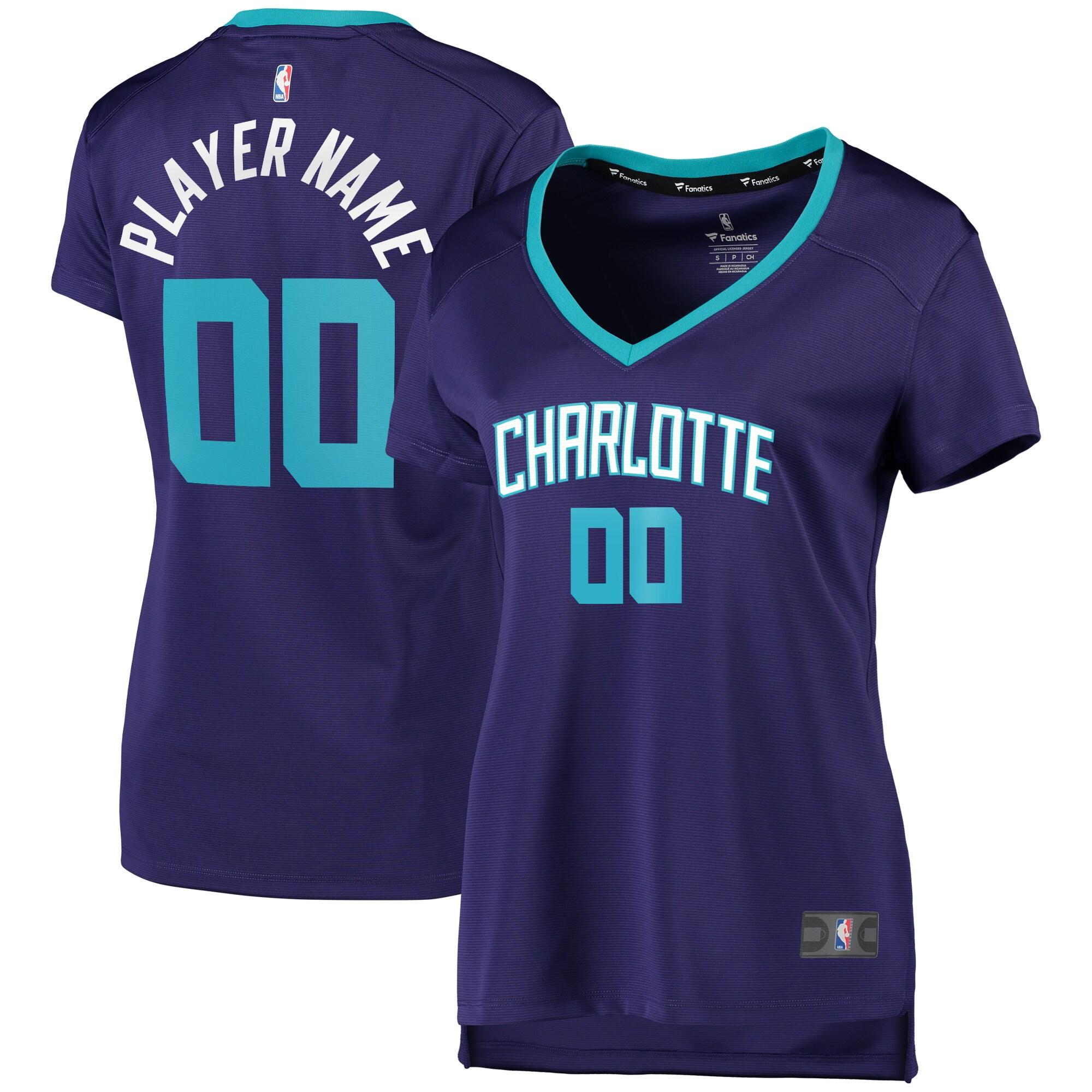 Charlotte Hornets Fanatics Branded Women's Fast Break Replica Custom Jersey Purple - Statement Edition