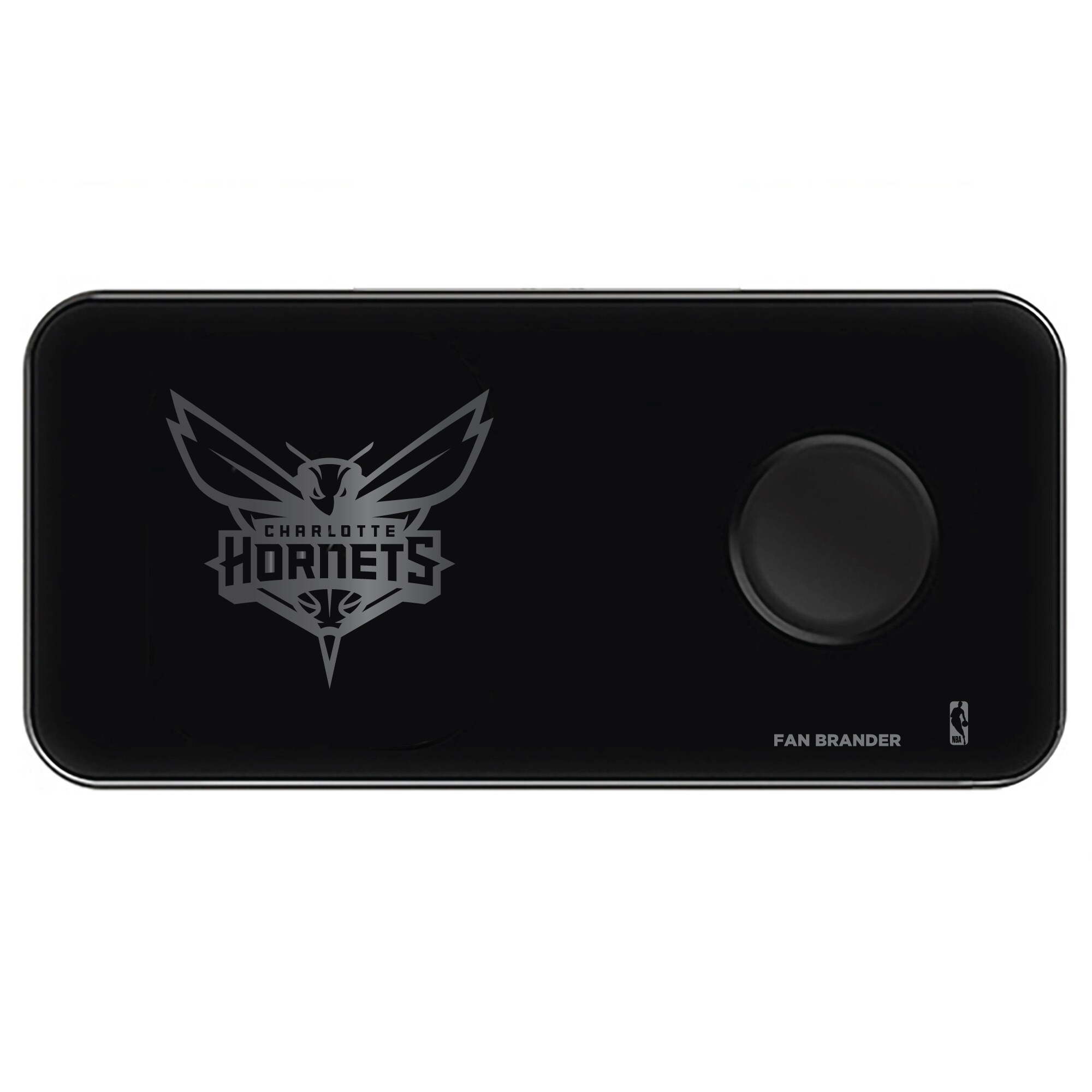 Charlotte Hornets 3-in-1 Glass Wireless Charge Pad - Black