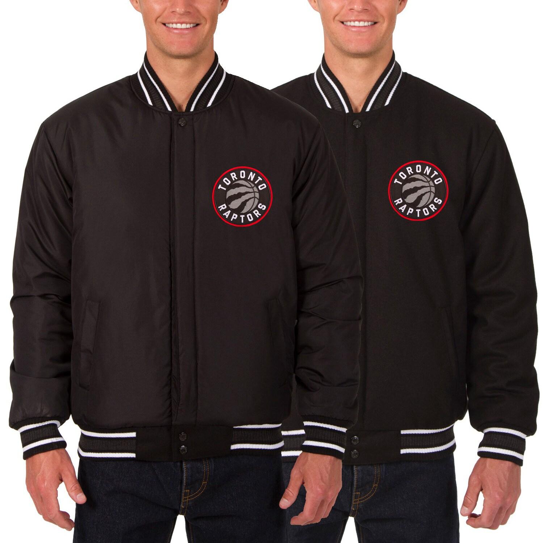 Toronto Raptors JH Design Reversible Wool Logo Jacket - Black