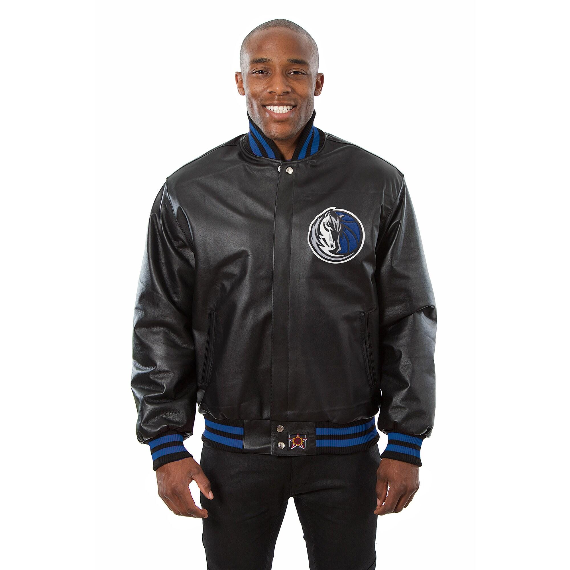 Dallas Mavericks JH Design Domestic Team Color Leather Jacket - Black