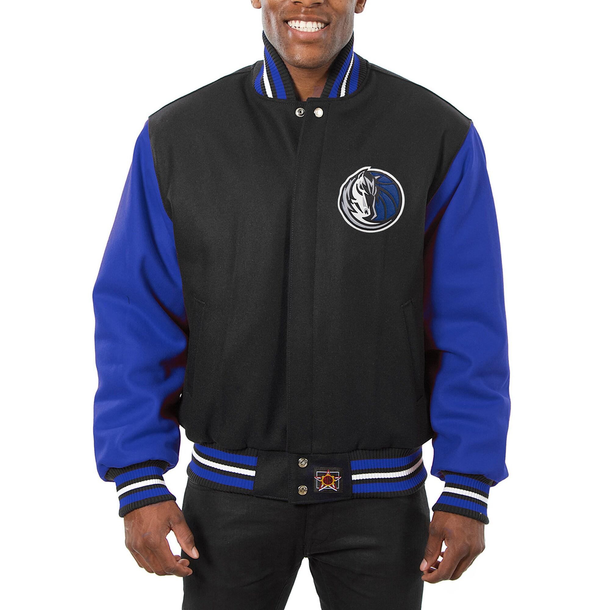 Dallas Mavericks JH Design Domestic Two-Tone Wool Jacket - Black