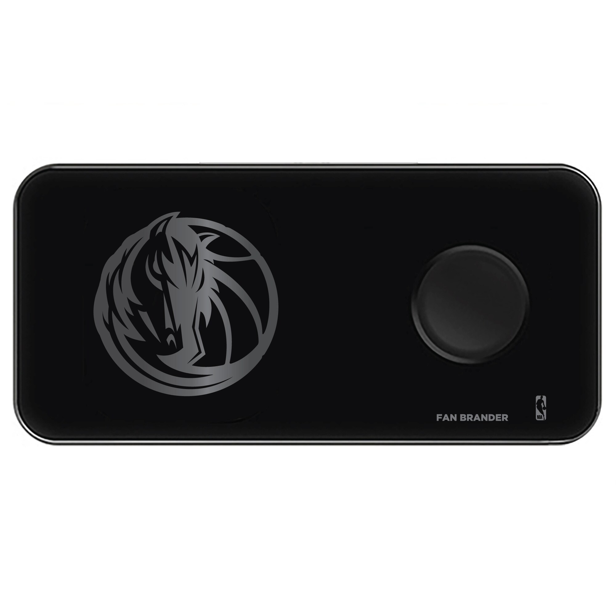 Dallas Mavericks 3-in-1 Glass Wireless Charge Pad - Black