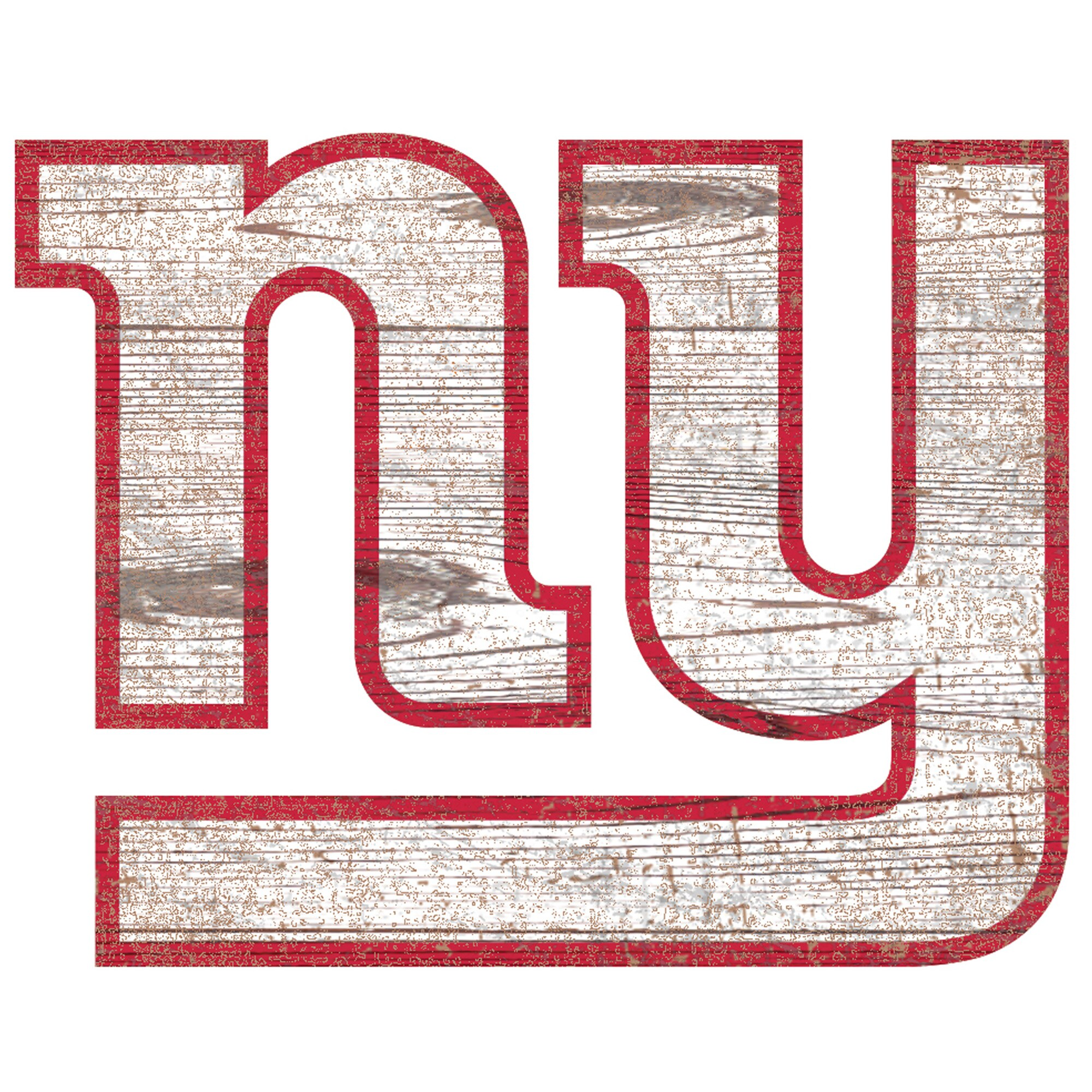 New York Giants 24'' x 24'' Distressed Logo Cutout Sign