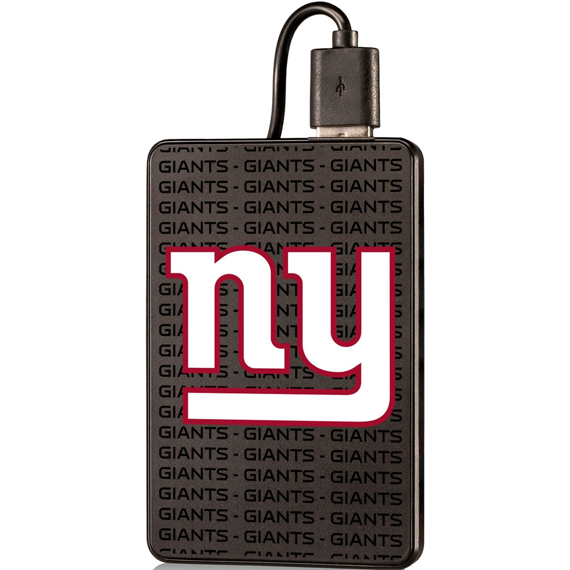 New York Giants Text Backed 2000 mAh Credit Card Powerbank