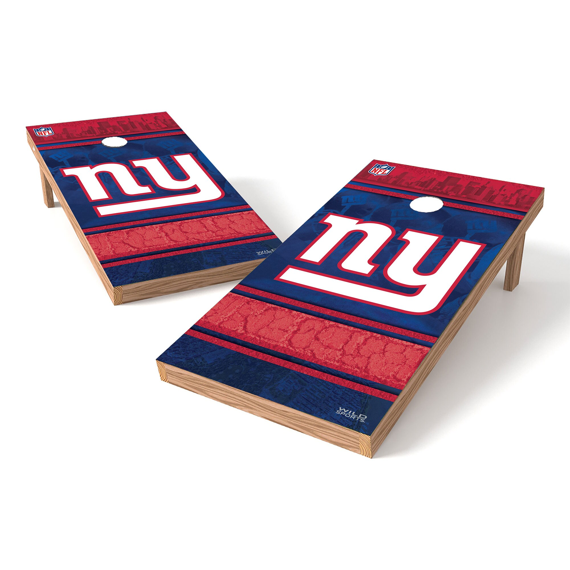 New York Giants 2' x 4' Cornhole Board Tailgate Toss XL Set