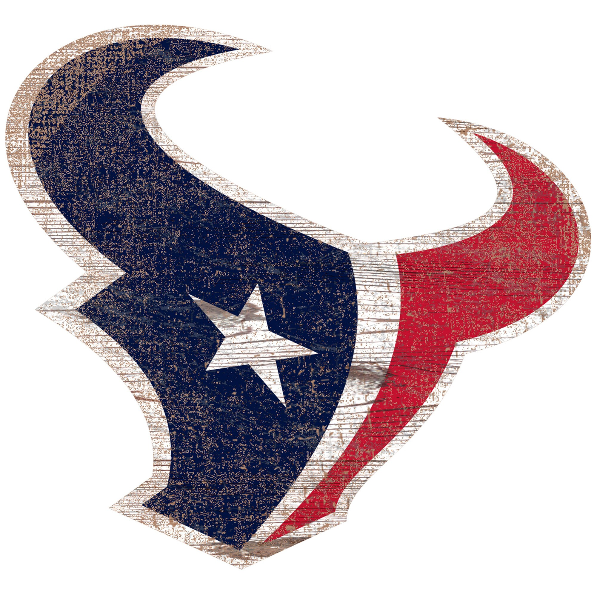 Houston Texans 24'' x 24'' Distressed Logo Cutout Sign