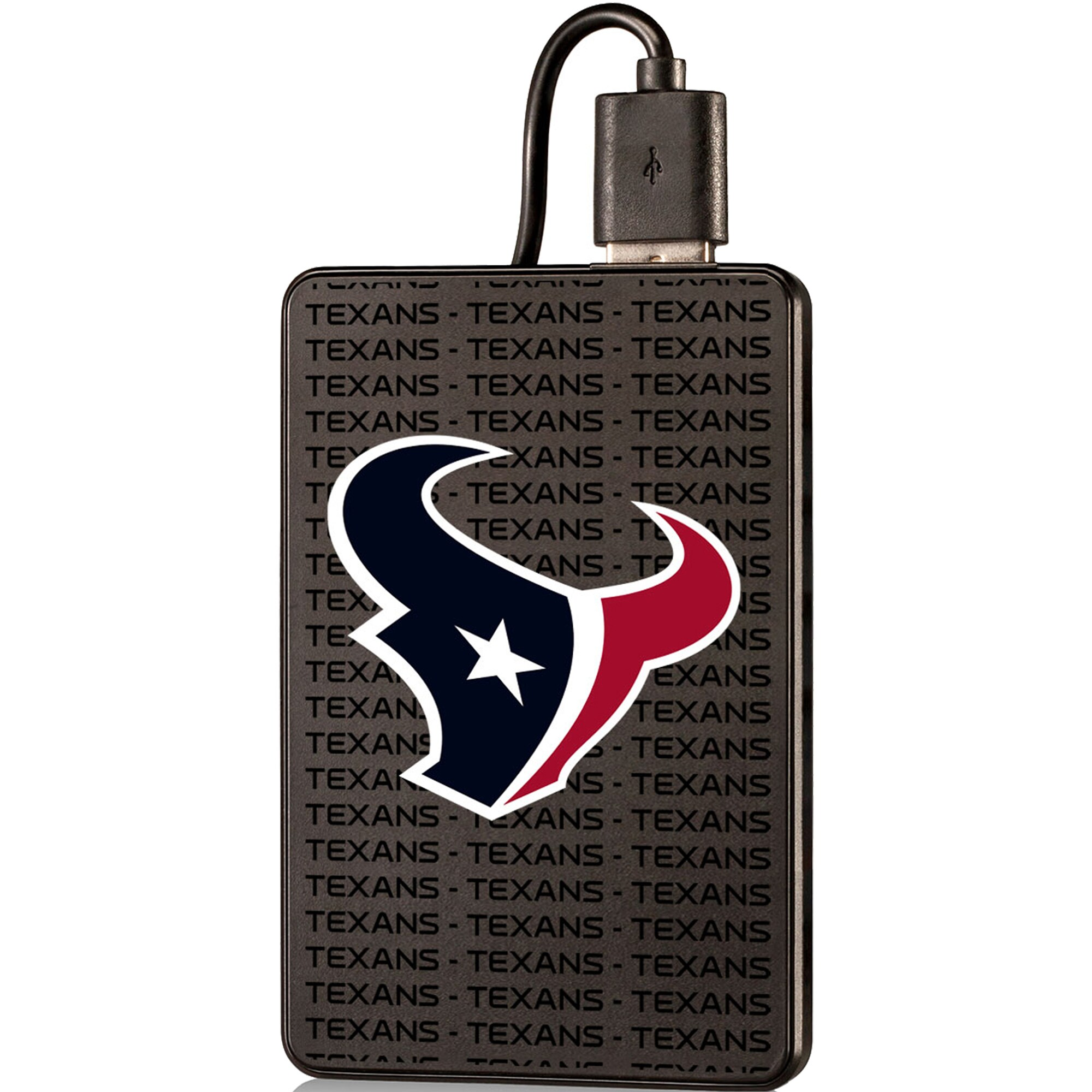 Houston Texans Text Backed 2000 mAh Credit Card Powerbank