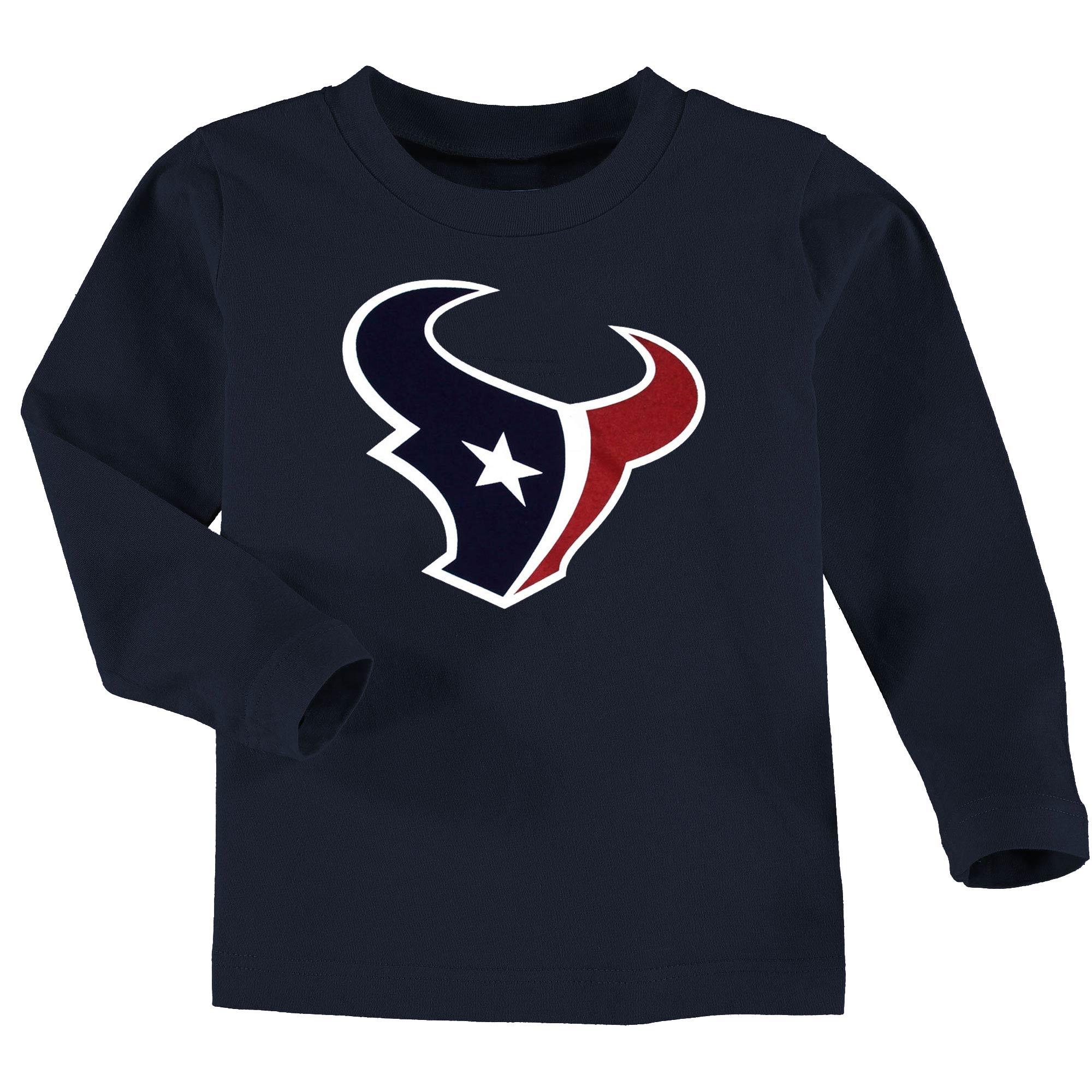 Houston Texans Toddler Team Logo Long Sleeve T-Shirt - Navy Blue
