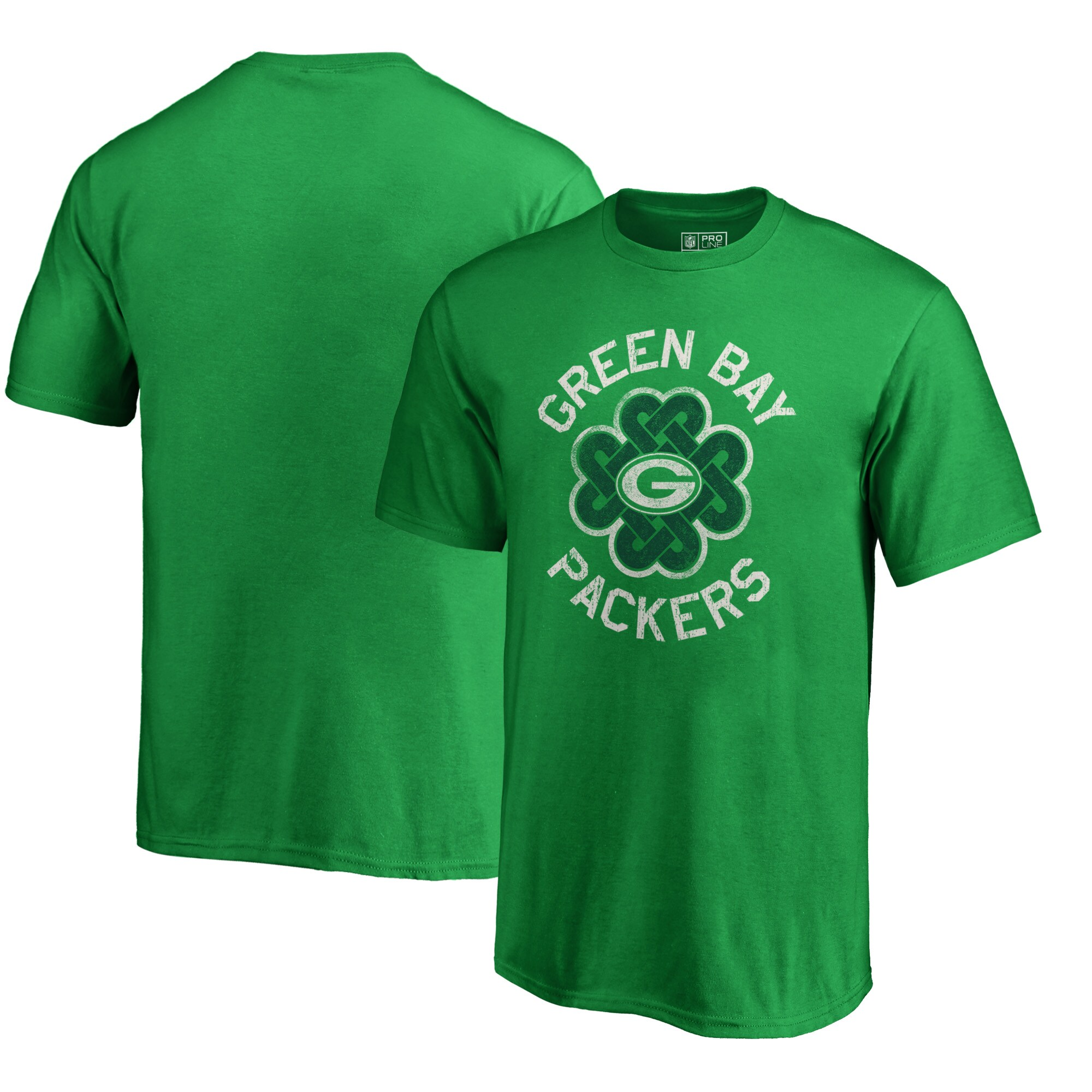 Green Bay Packers NFL Pro Line by Fanatics Branded Youth St. Patrick's Day Luck Tradition T-Shirt - Kelly Green