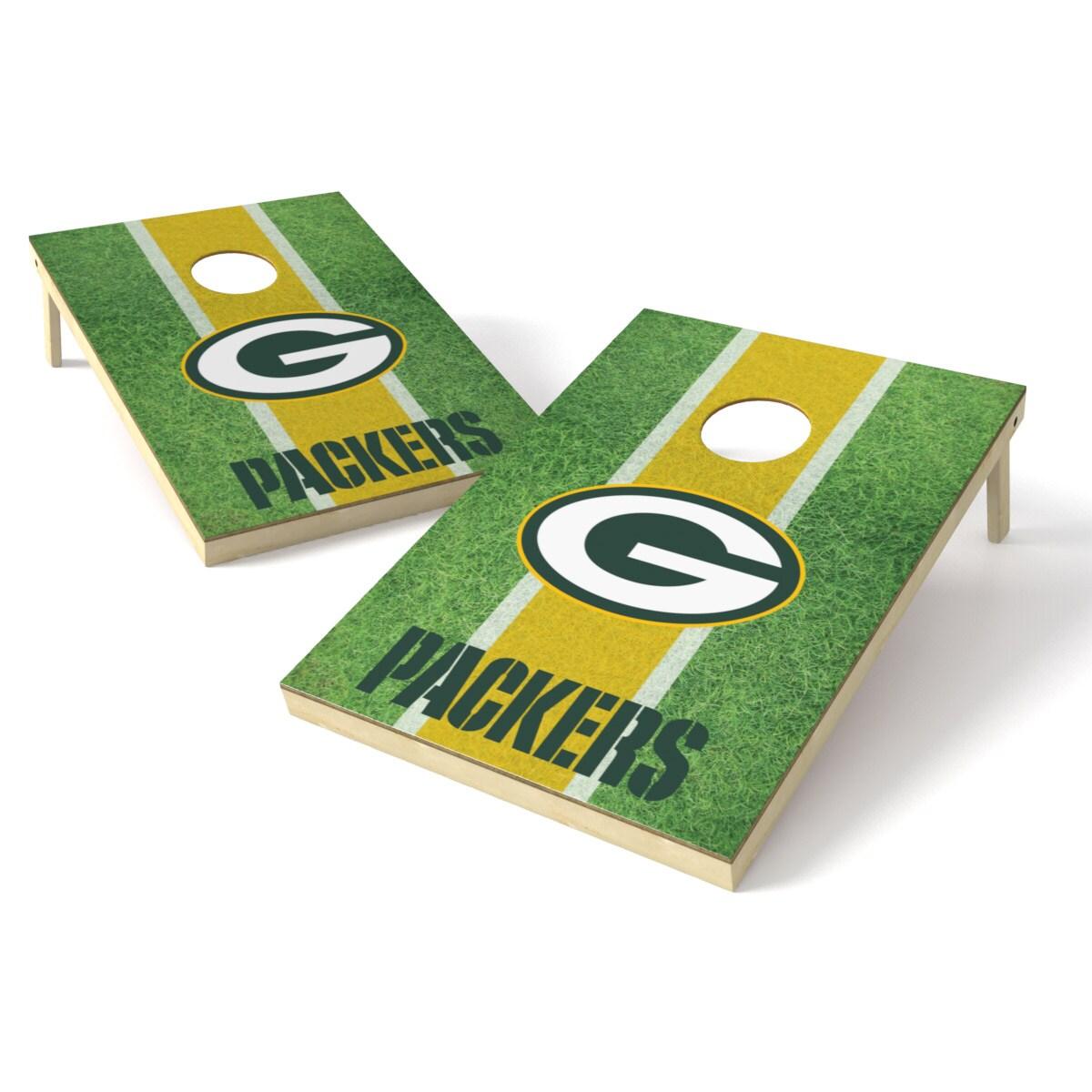 Green Bay Packers 2' x 3' Field Shield Cornhole Board Tailgate Toss Set