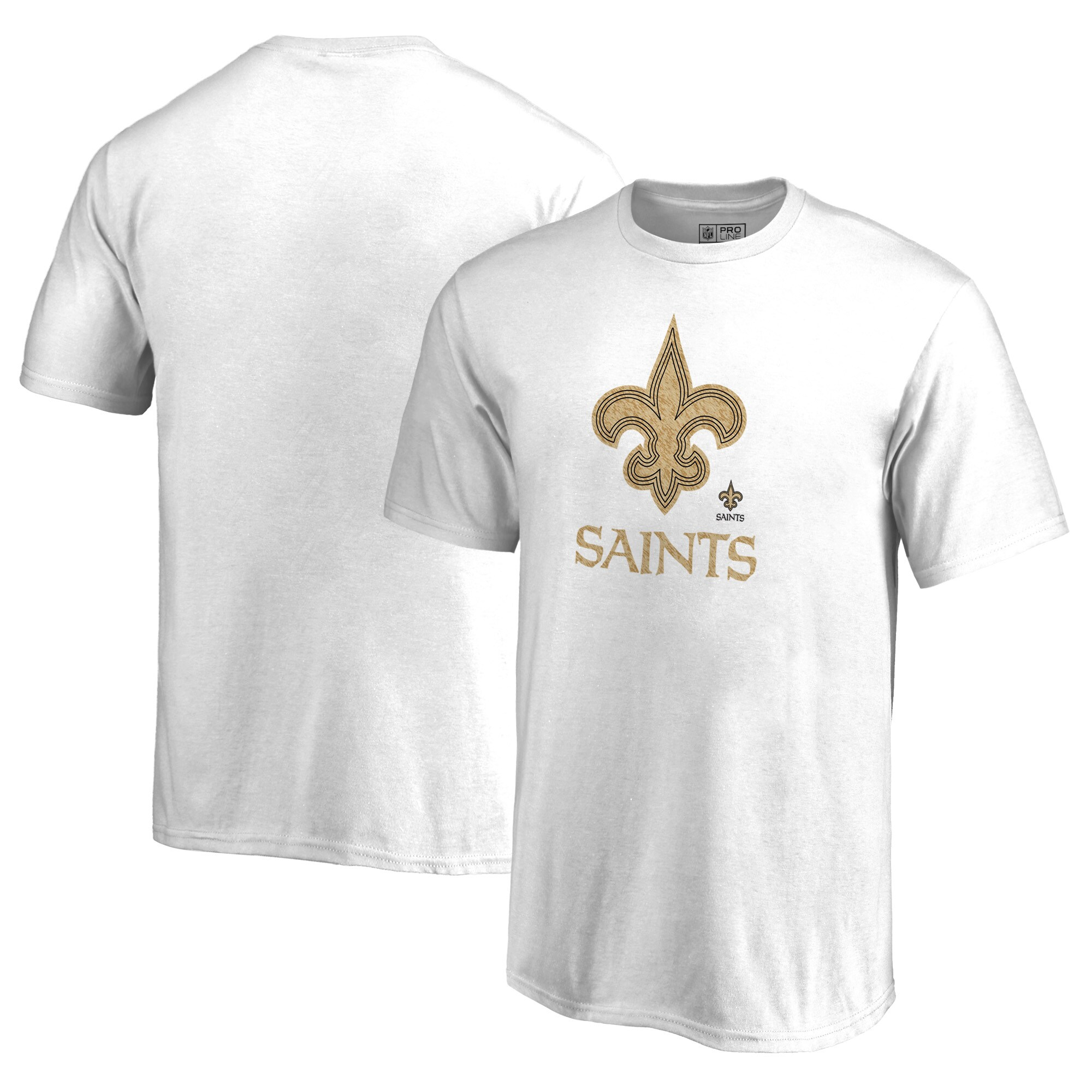 New Orleans Saints NFL Pro Line by Fanatics Branded Youth Training Camp Hookup T-Shirt - White