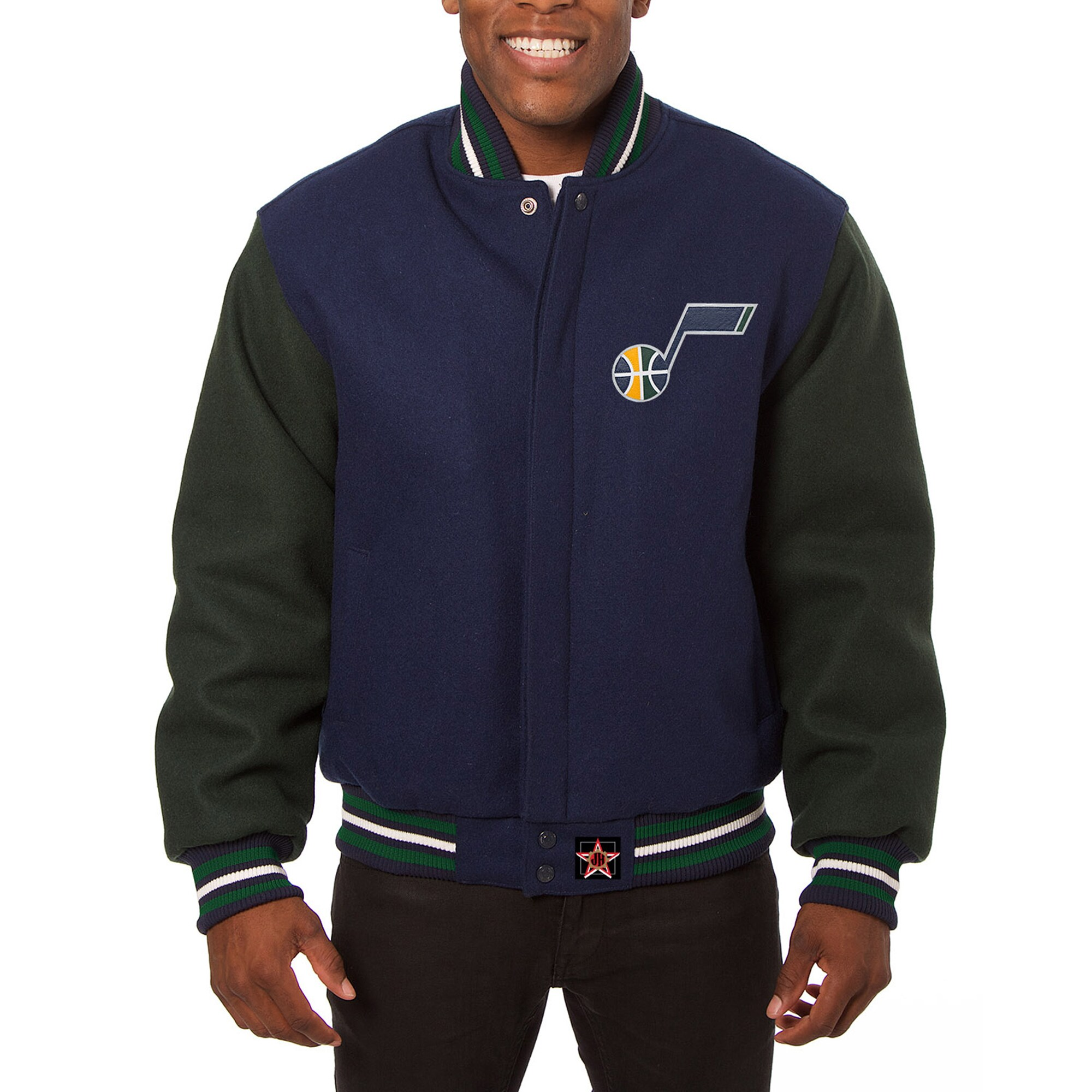 Utah Jazz JH Design Domestic Two-Tone Wool Jacket - Navy