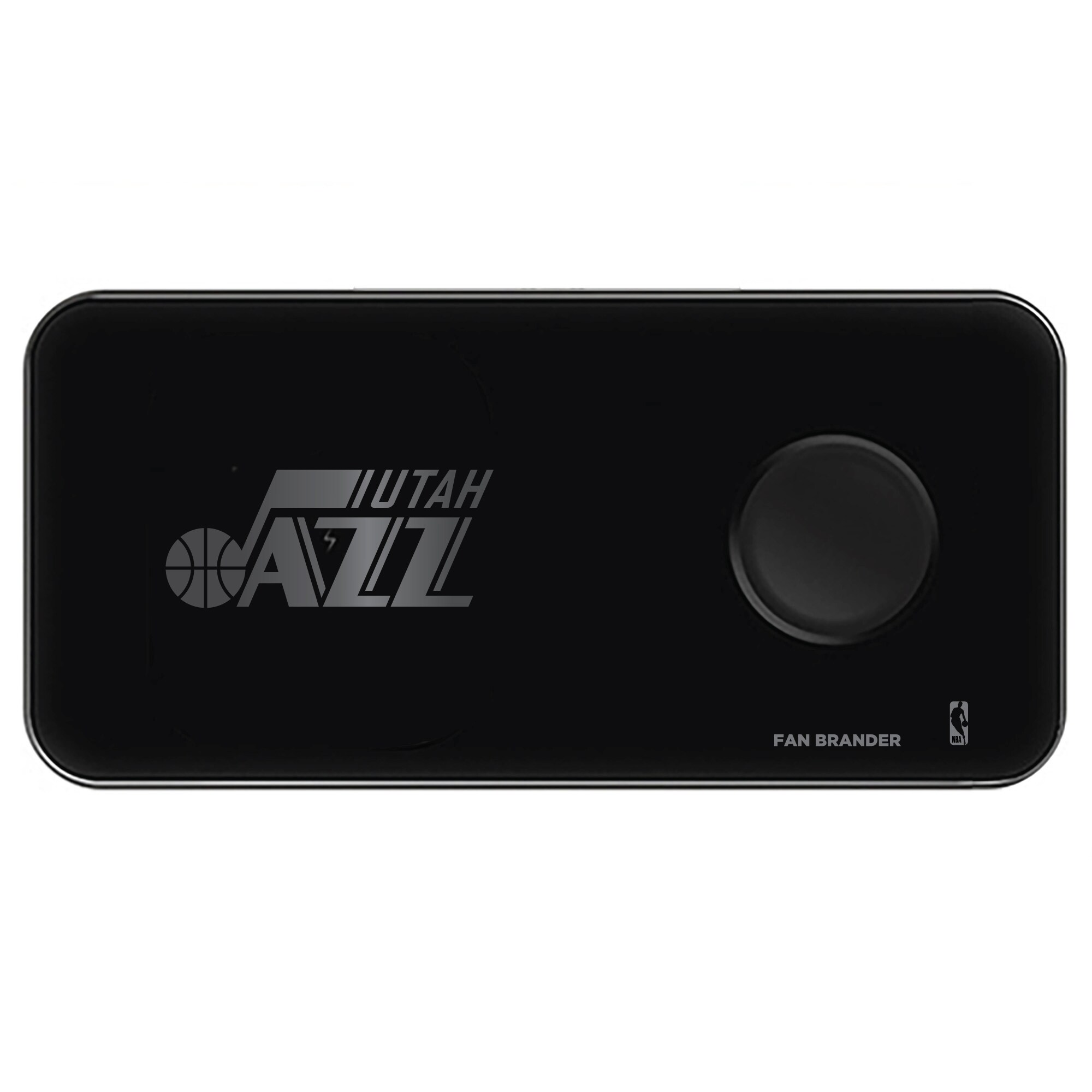 Utah Jazz 3-in-1 Glass Wireless Charge Pad - Black