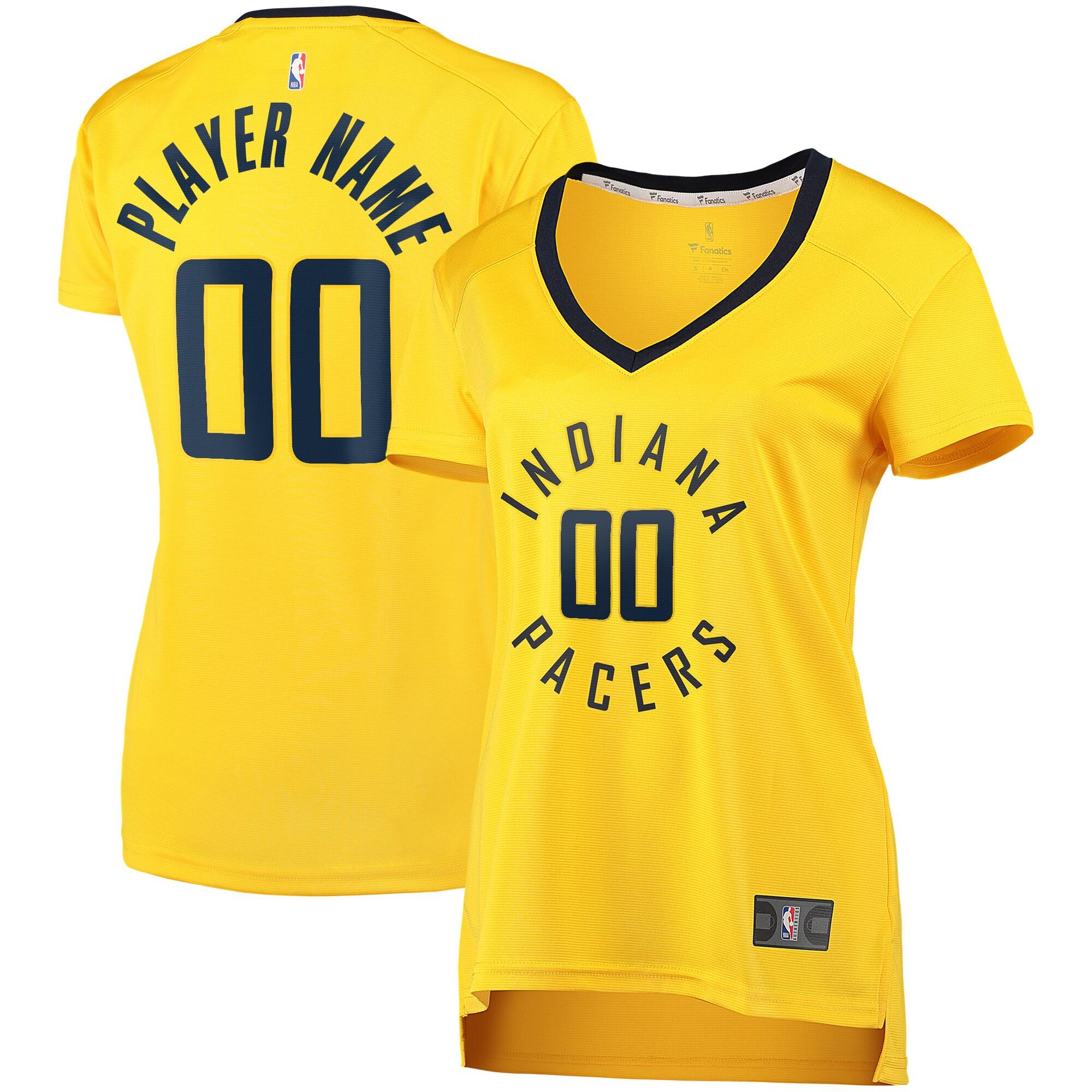 Indiana Pacers Fanatics Branded Women's Fast Break Replica Custom Jersey Gold - Statement Edition