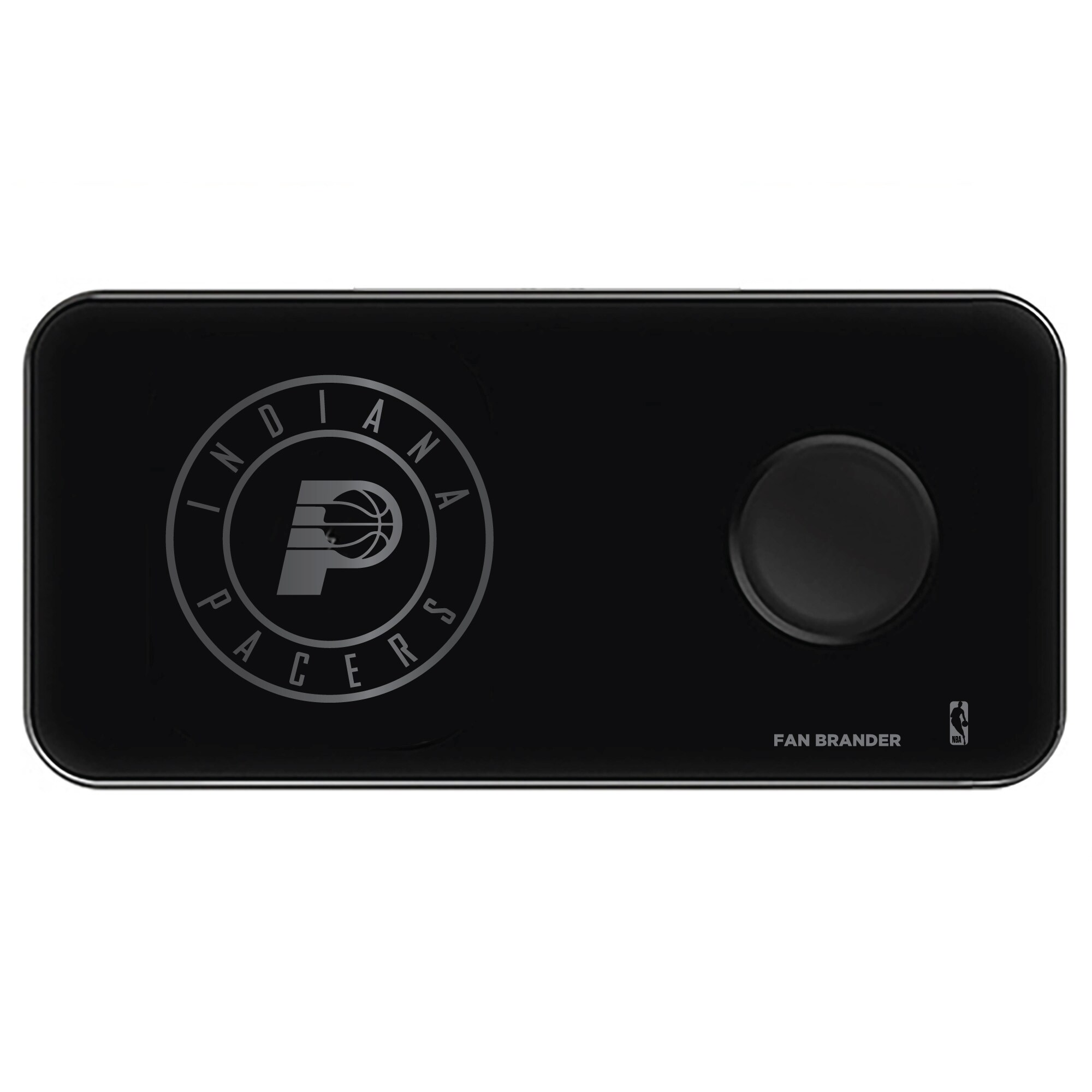 Indiana Pacers 3-in-1 Glass Wireless Charge Pad - Black