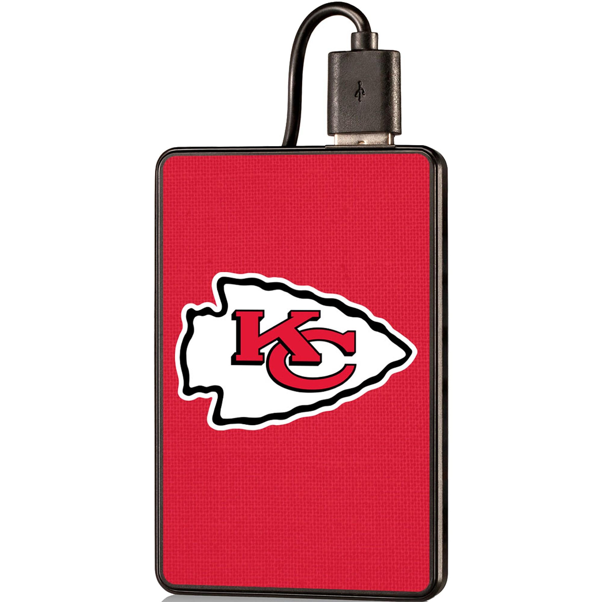 Kansas City Chiefs Solid 2000 mAh Credit Card Powerbank