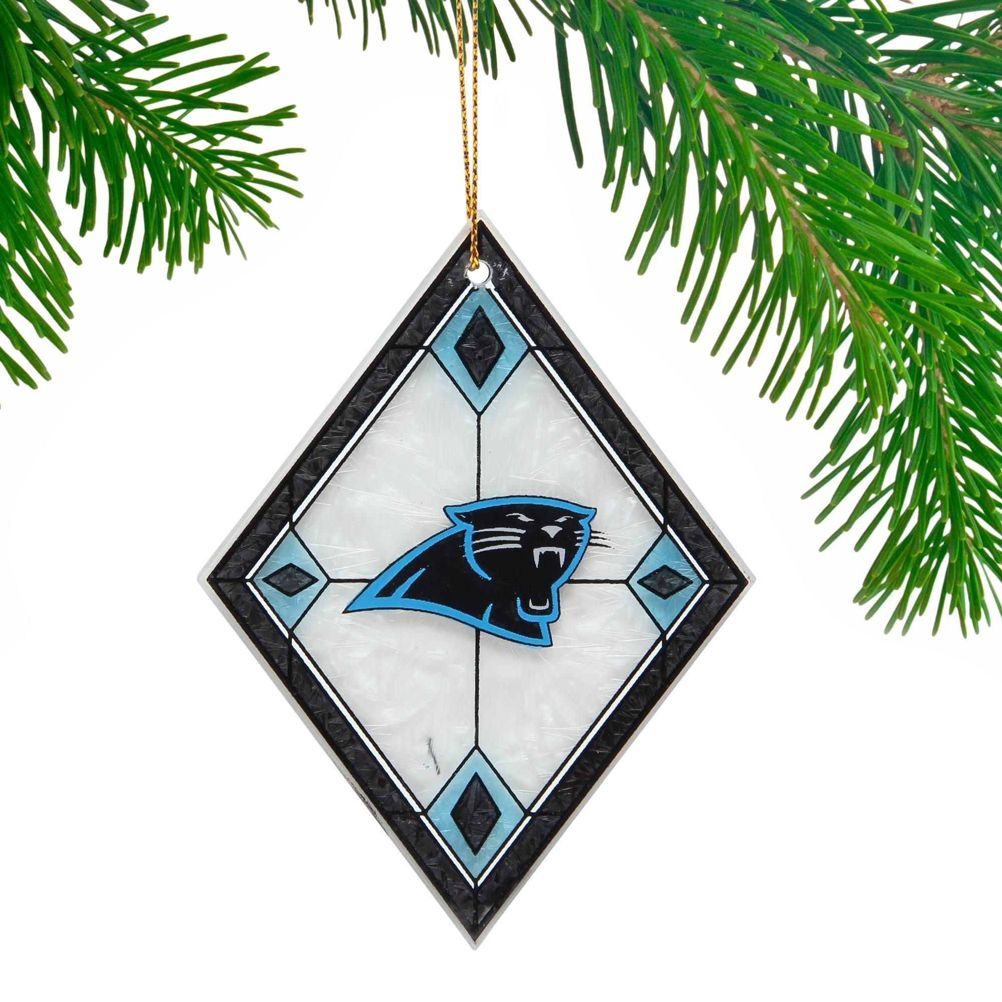 Carolina Panthers Art Glass Ornament