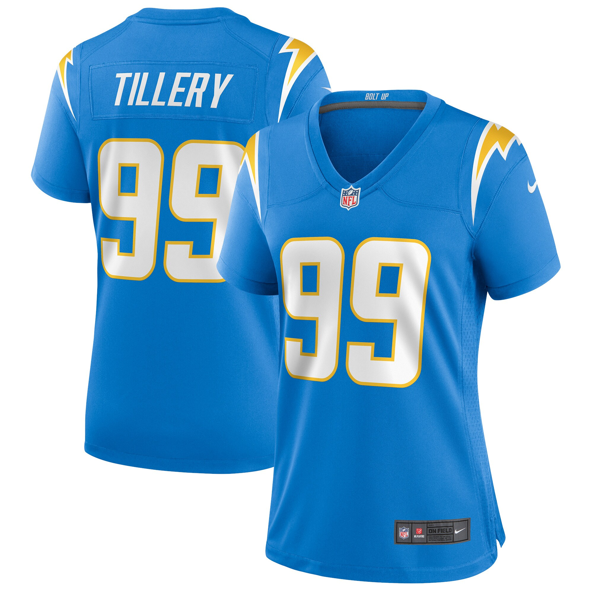 Jerry Tillery Los Angeles Chargers Nike Women's Game Jersey - Powder Blue