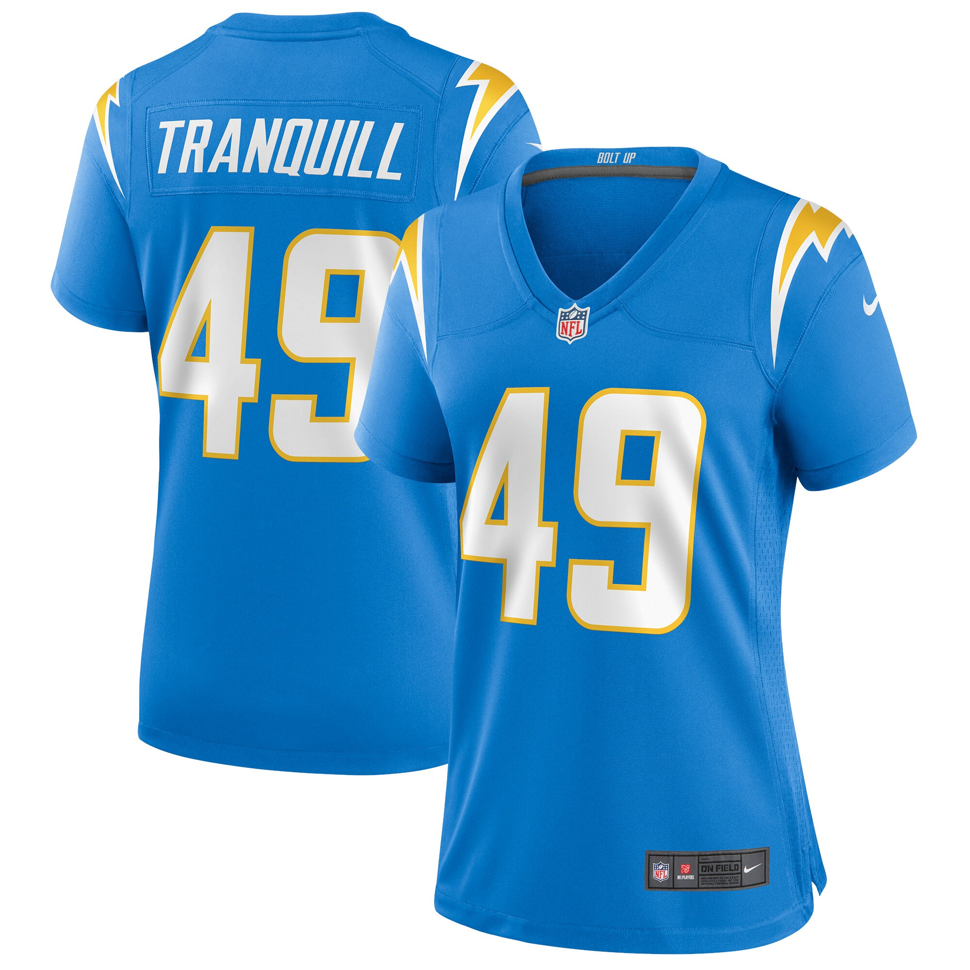 Drue Tranquill Los Angeles Chargers Nike Women's Game Jersey - Powder Blue