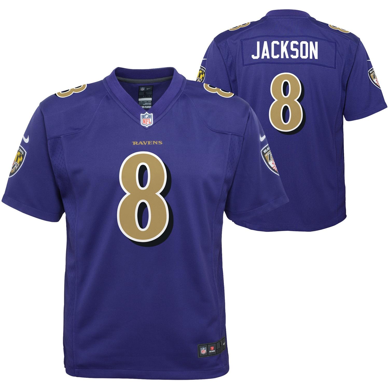 Lamar Jackson Baltimore Ravens Nike Youth Color Rush Player Game Jersey - Purple
