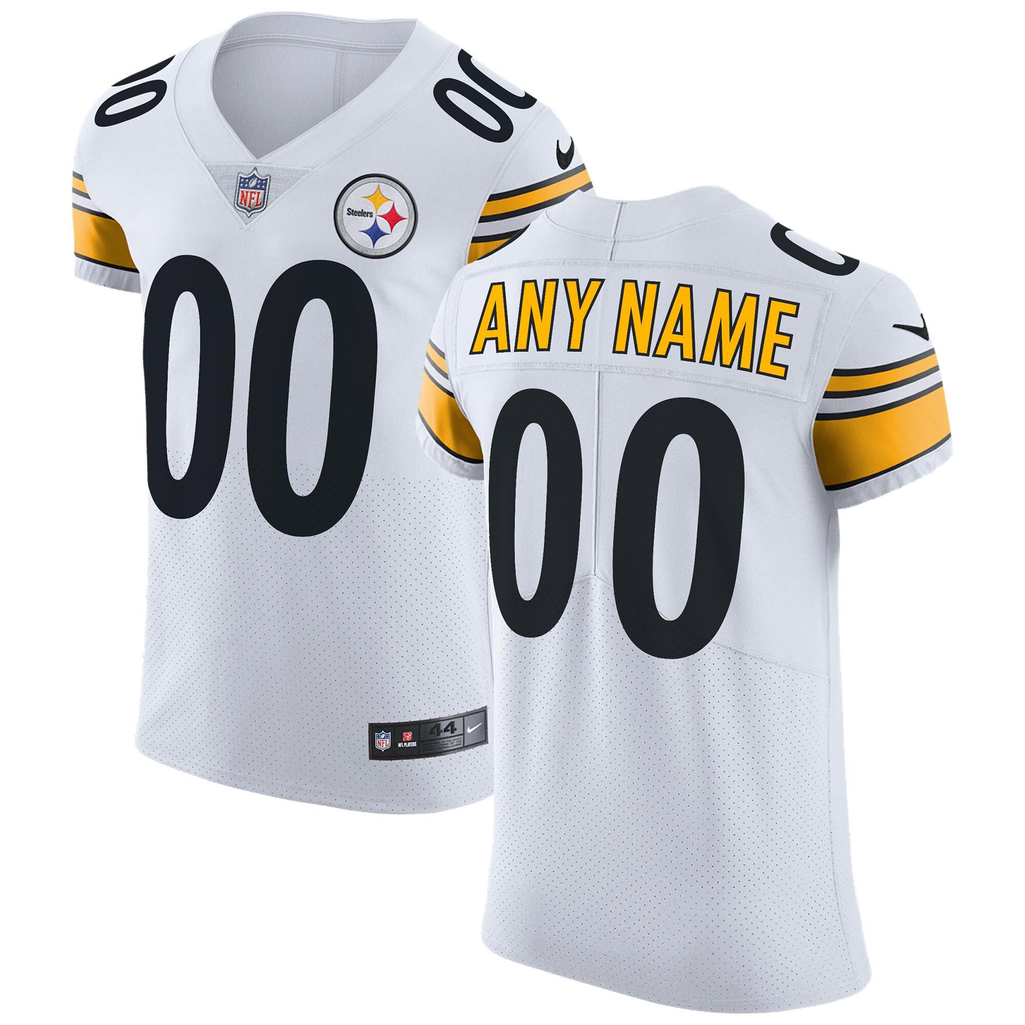 Pittsburgh Steelers Nike Vapor Untouchable Custom Elite Jersey - White