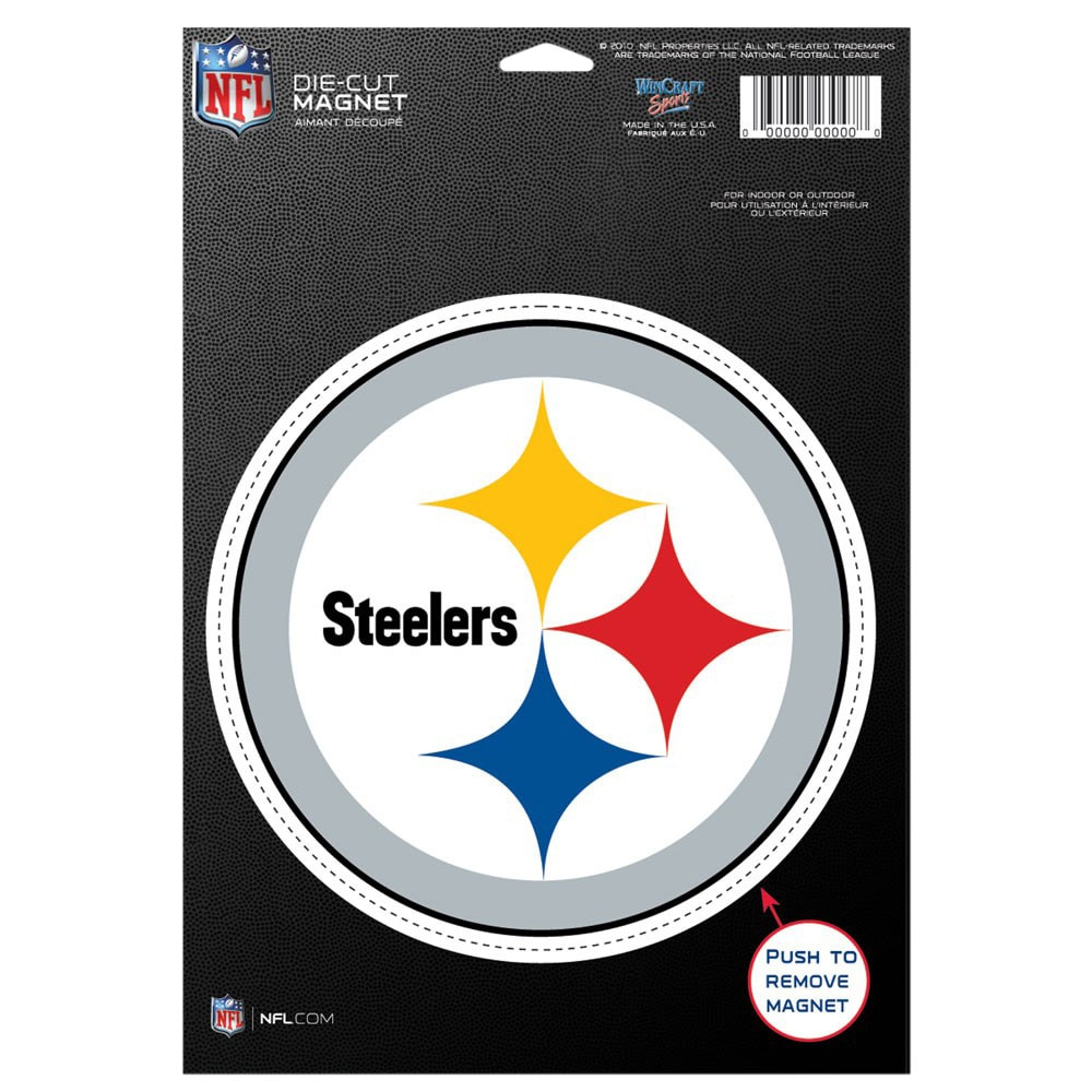 """Pittsburgh Steelers WinCraft 6"""" x 9"""" Car Magnet"""