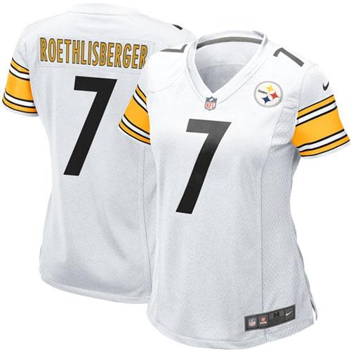 Ben Roethlisberger Pittsburgh Steelers Nike Women's Game Jersey - White