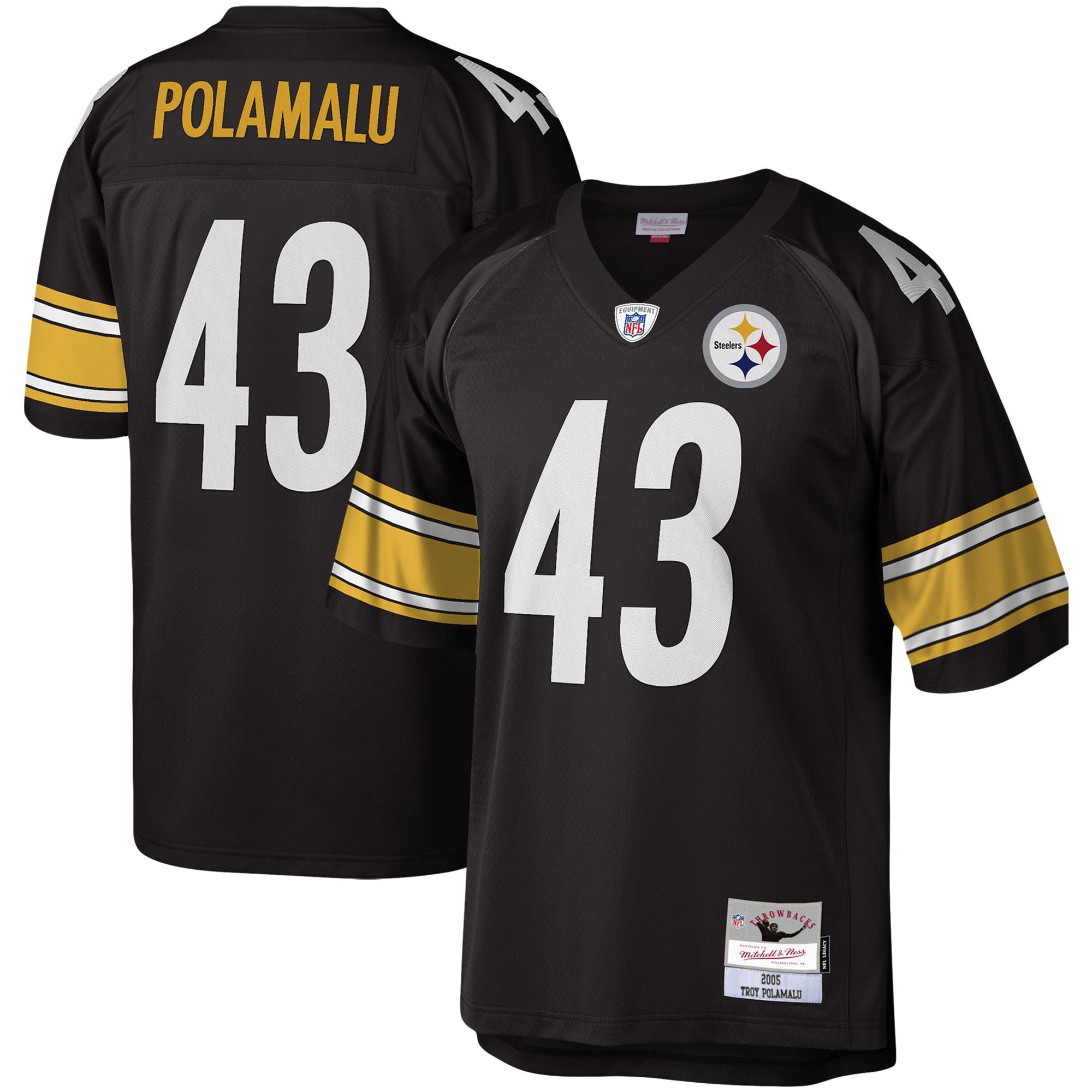 Troy Polamalu Pittsburgh Steelers Mitchell & Ness Legacy Replica Jersey - Black