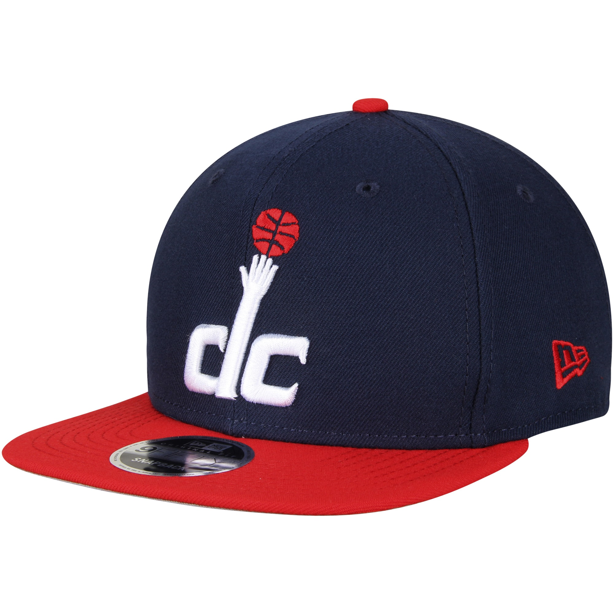 Washington Wizards New Era 2-Tone Original Fit 9FIFTY Adjustable Snapback Hat - Navy/Red