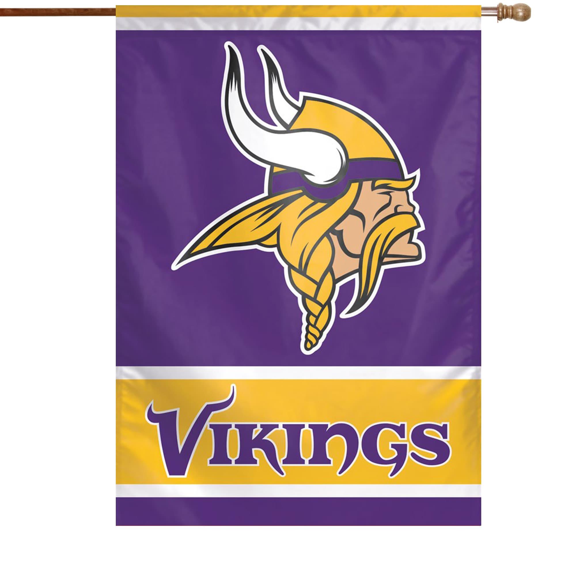 "Minnesota Vikings WinCraft 28"" x 40"" Primary Logo Single-Sided Vertical Banner"