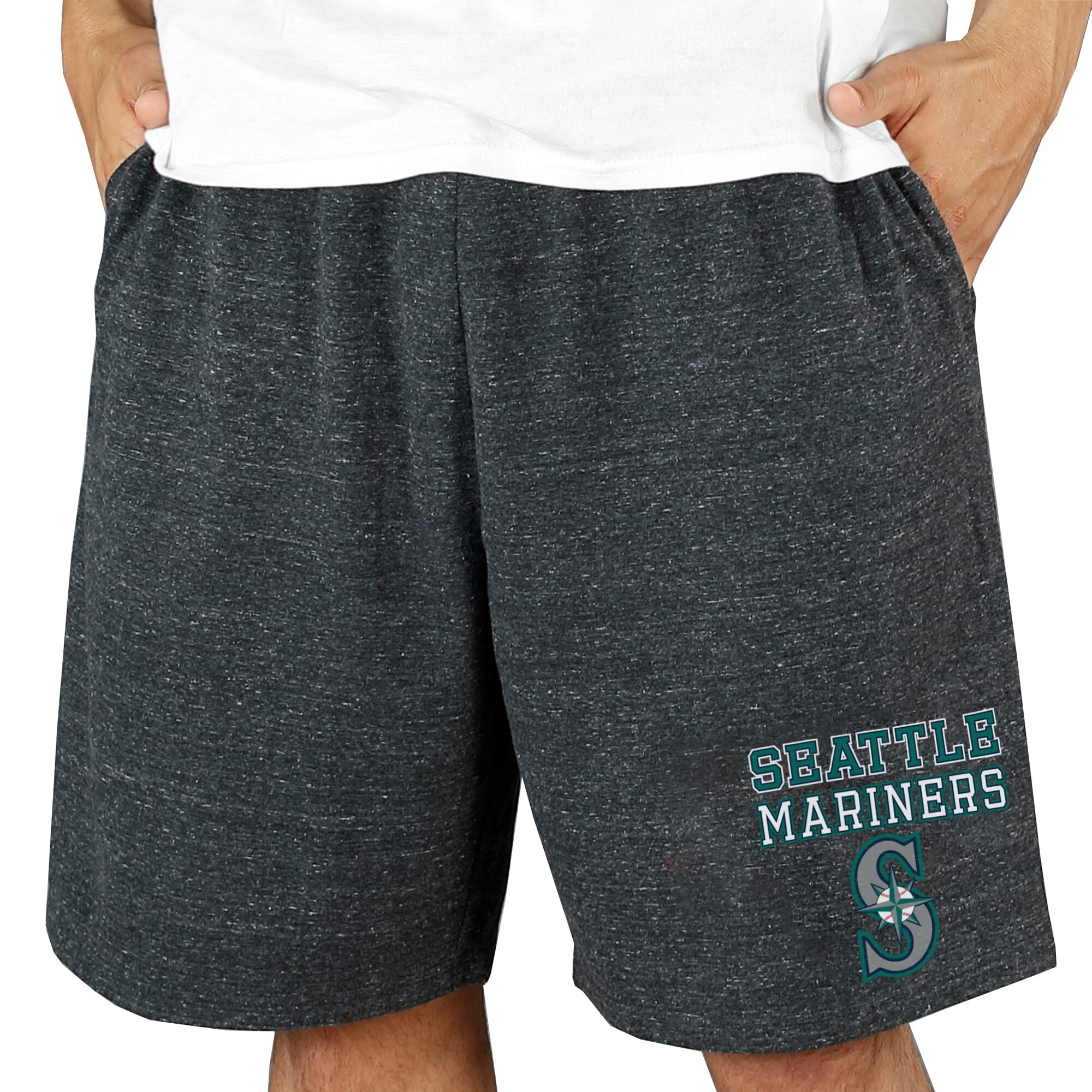 Seattle Mariners Concepts Sport Pitch Knit Jam Shorts - Charcoal