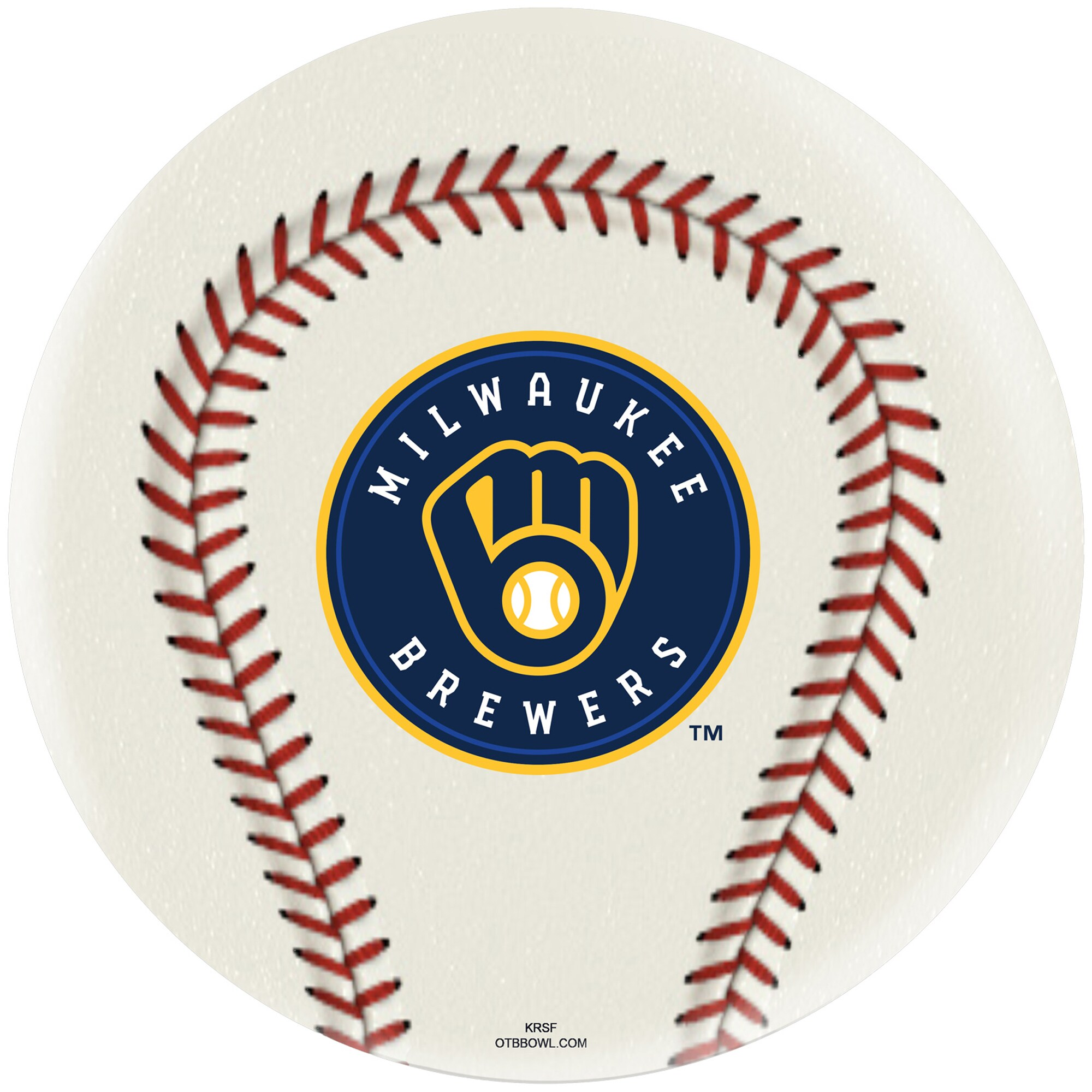 Milwaukee Brewers Undrilled Bowling Ball