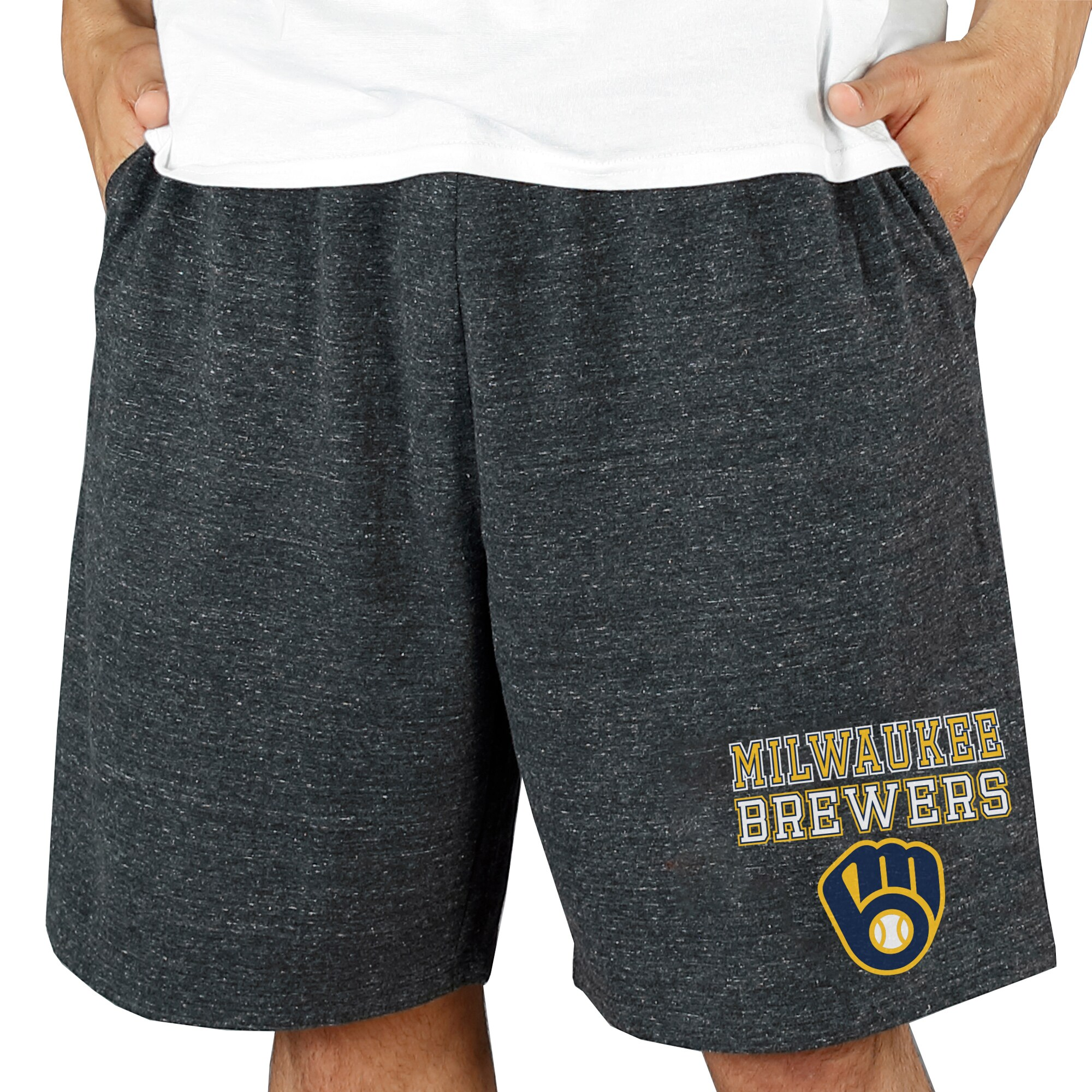 Milwaukee Brewers Concepts Sport Pitch Knit Jam Shorts - Charcoal