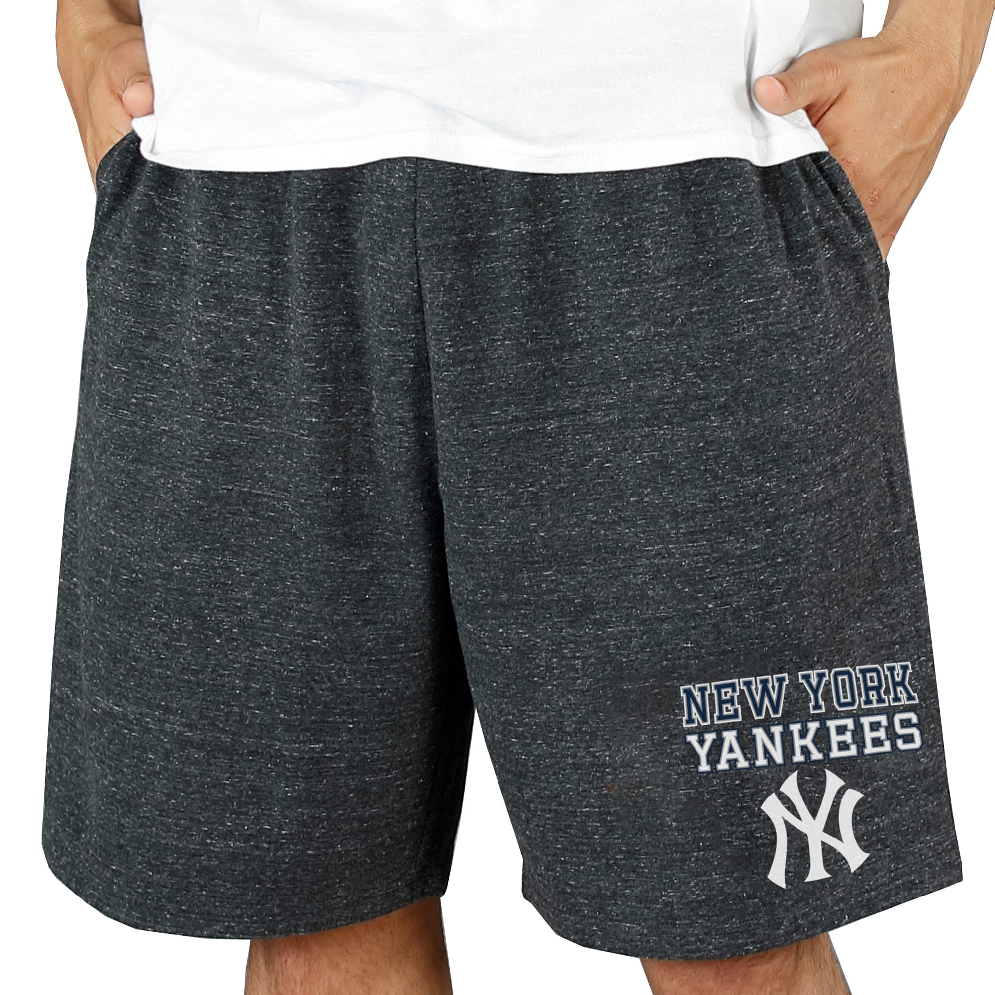 New York Yankees Concepts Sport Pitch Knit Jam Shorts - Charcoal